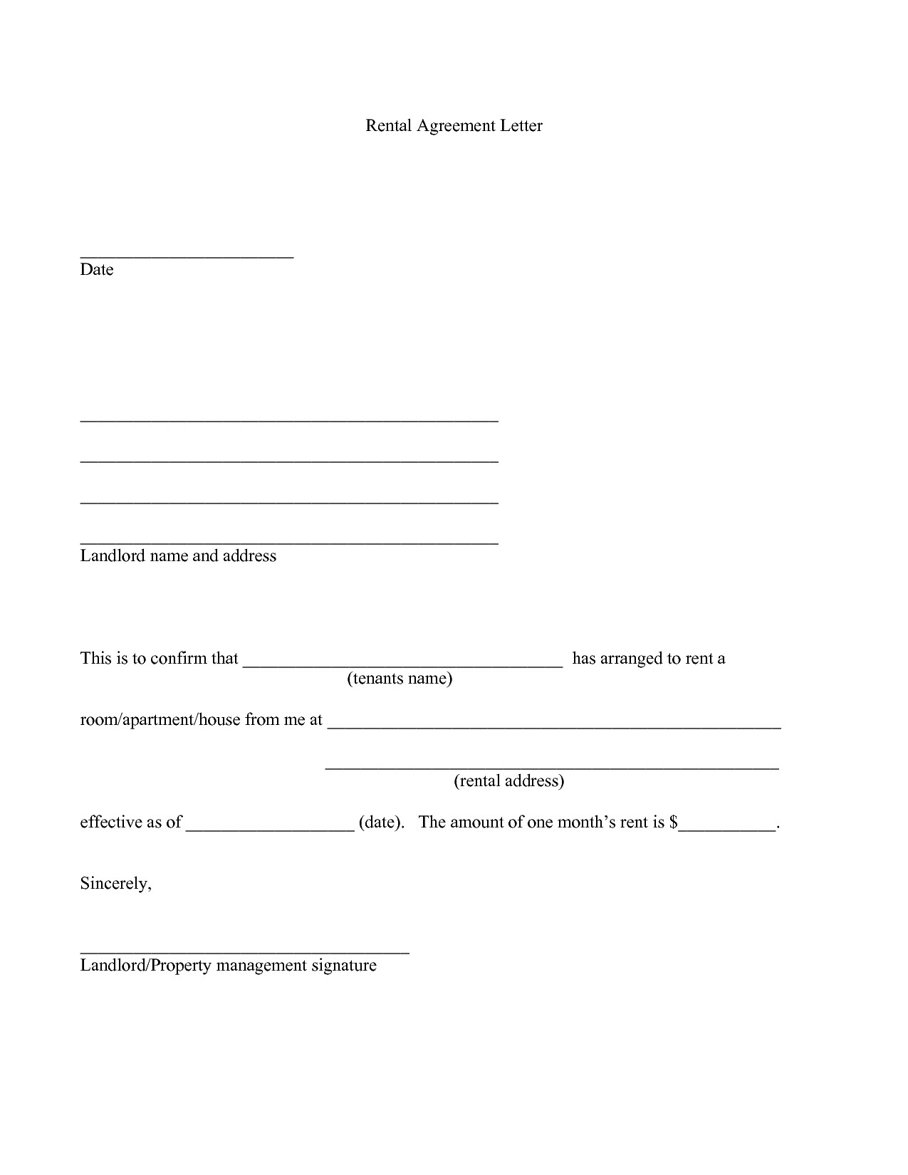 Landlord Agreement Letter Template - Landlord Tenant Contract Awesome Cosigner Rental Agreement Agreement