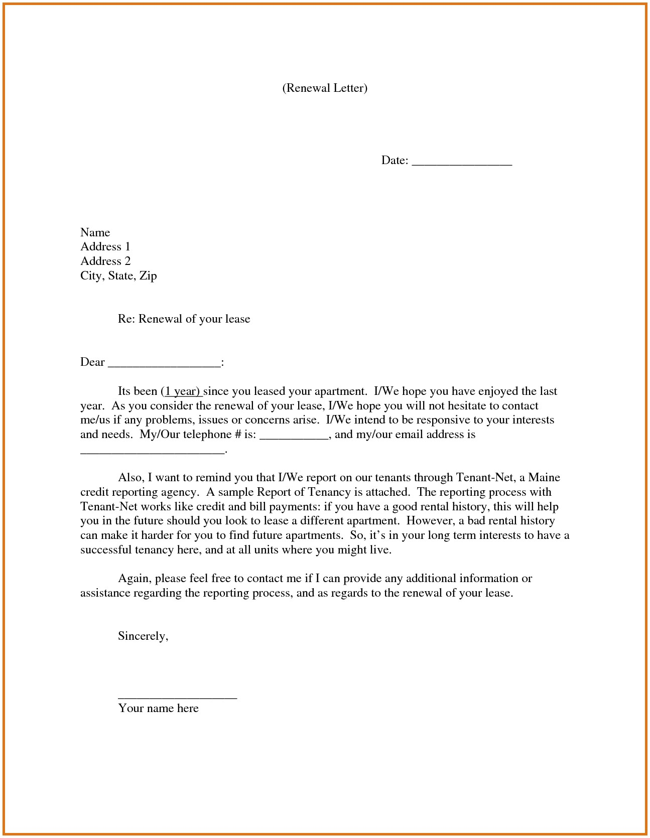 not renewing lease letter template samples letter template collection