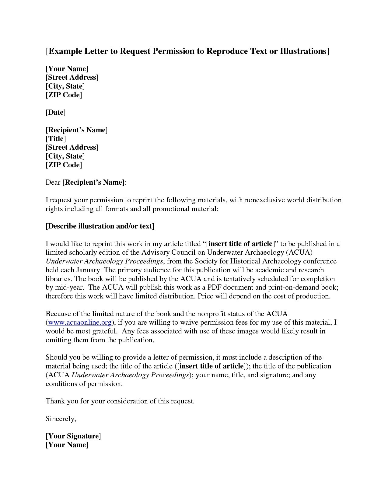 Copyright Permission Letter Template - Leave Application for Sisters Marriage Sample Permission Letter