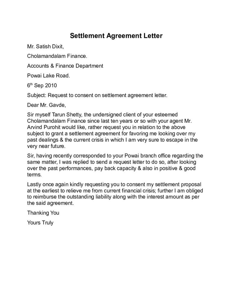 Settlement Agreement Letter Template - Legal Settlement Fer Letter Samples New Divorce Settlement