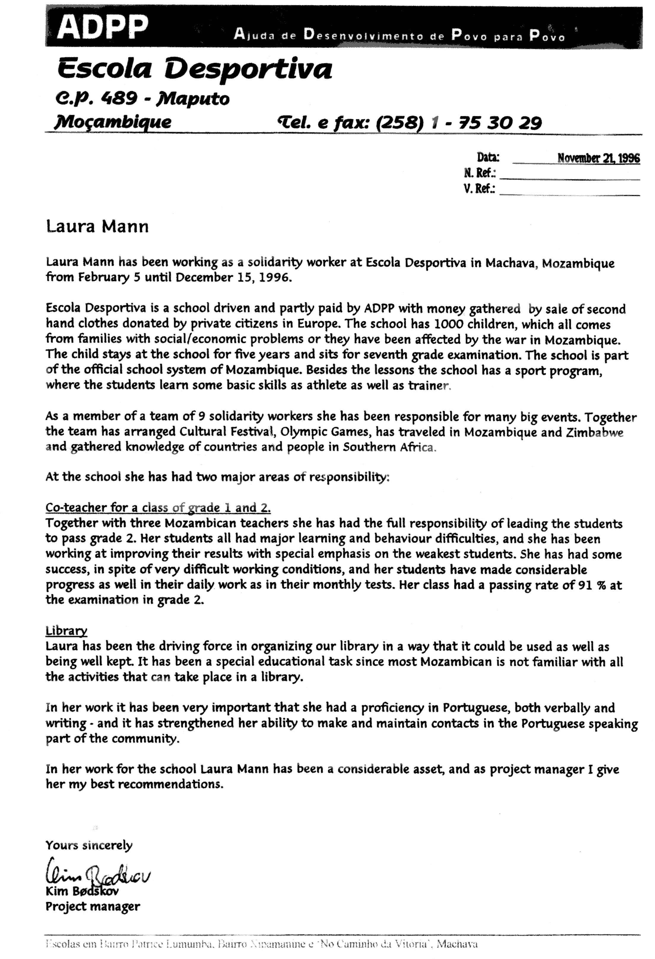Preschool Welcome Letter Template - Letter for Volunteer Teachervolunteer Letter Template Application