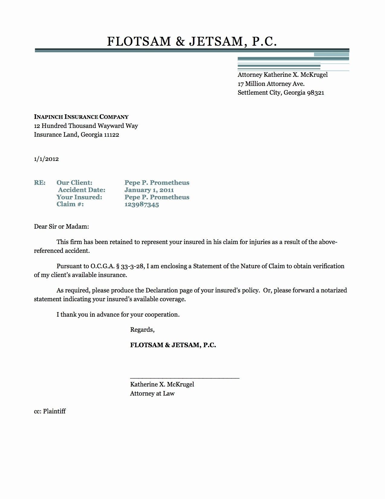 Insurance Demand Letter Template - Letter format Doc New Cover Letter Template for Ppi Claim Copy