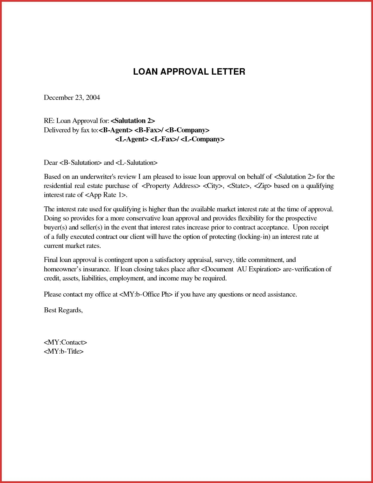 mortgage approval letter template collection letter template
