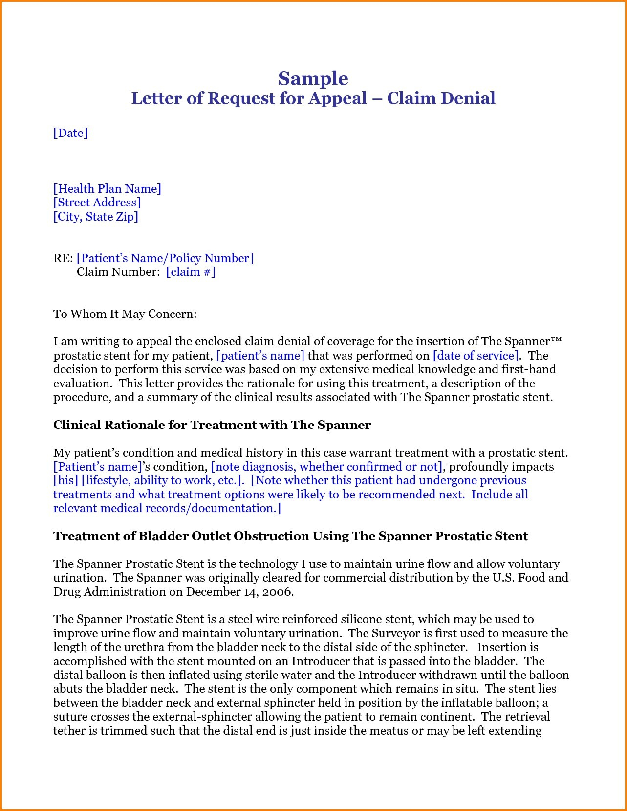 Claim Denial Letter Template - Letter format for Medical Insurance Claim Fresh Letter format for