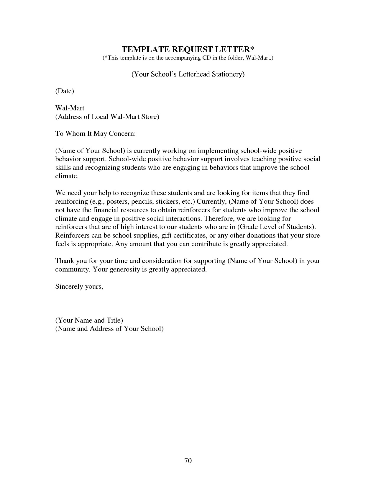 School Donation Request Letter Template - Letter format Request to School Fresh How to Write A Donation