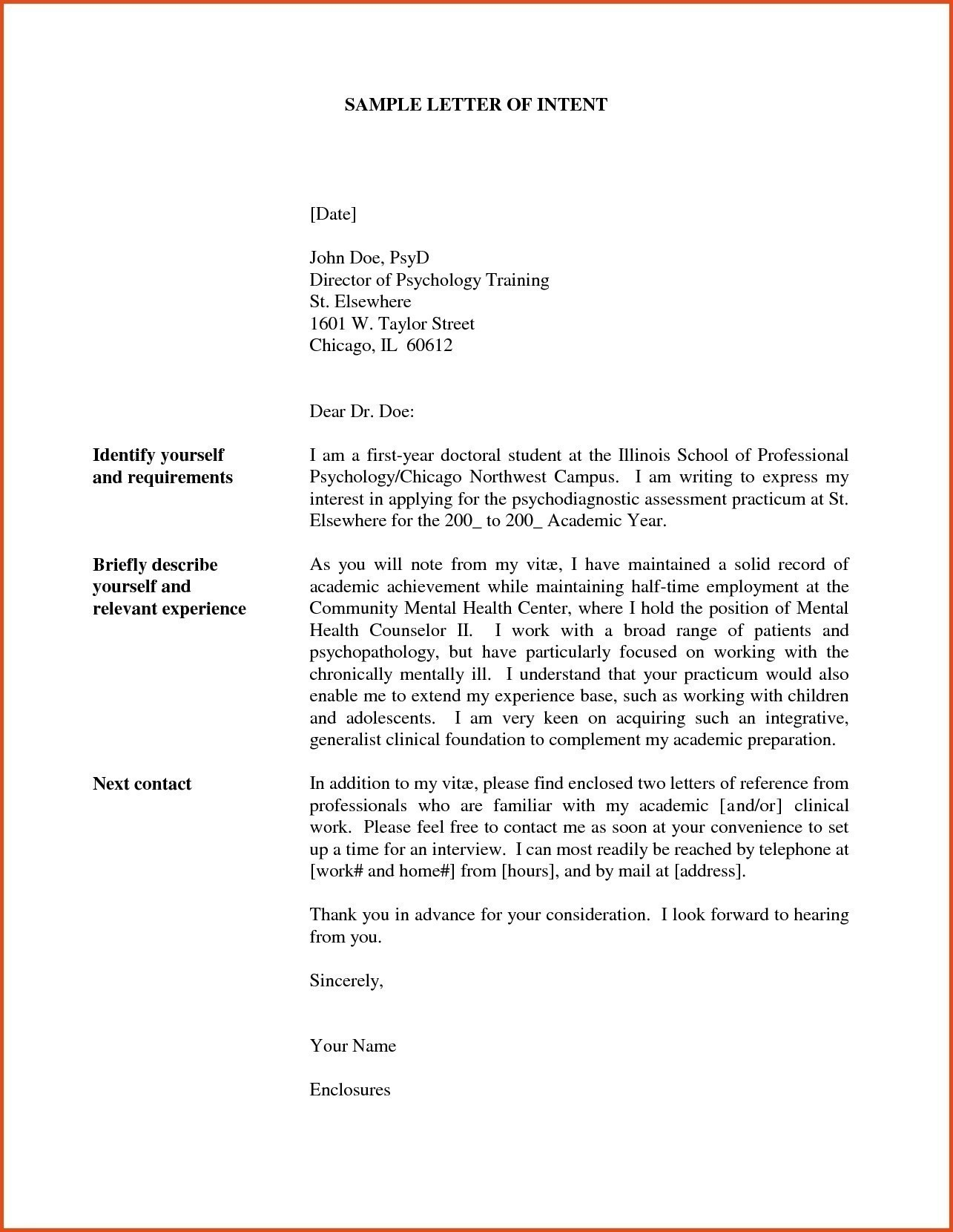 Free Letter Of Intent for A Job Template - Letter Intent for Job Opening New Letter Intention Job New Letter