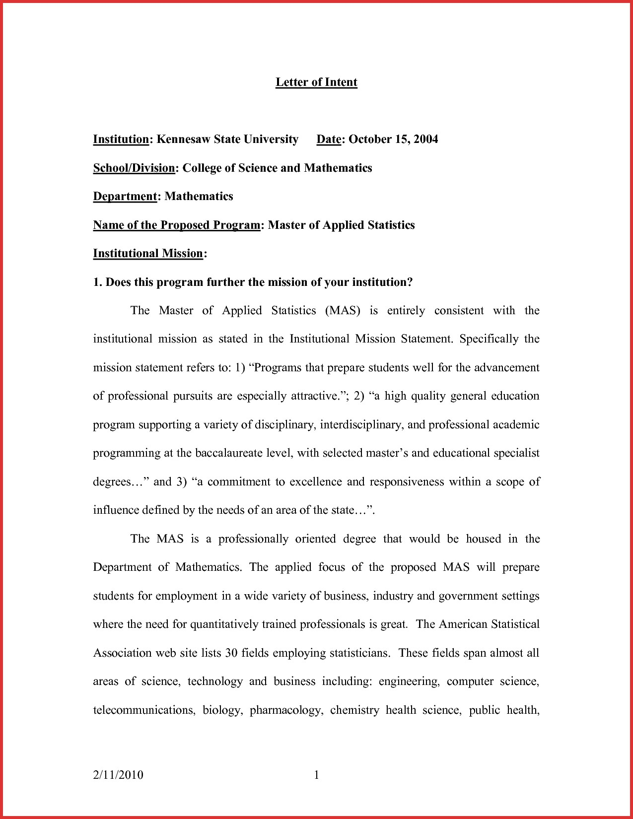Special Needs Letter Of Intent Template - Letter Intent formats Sarahepps