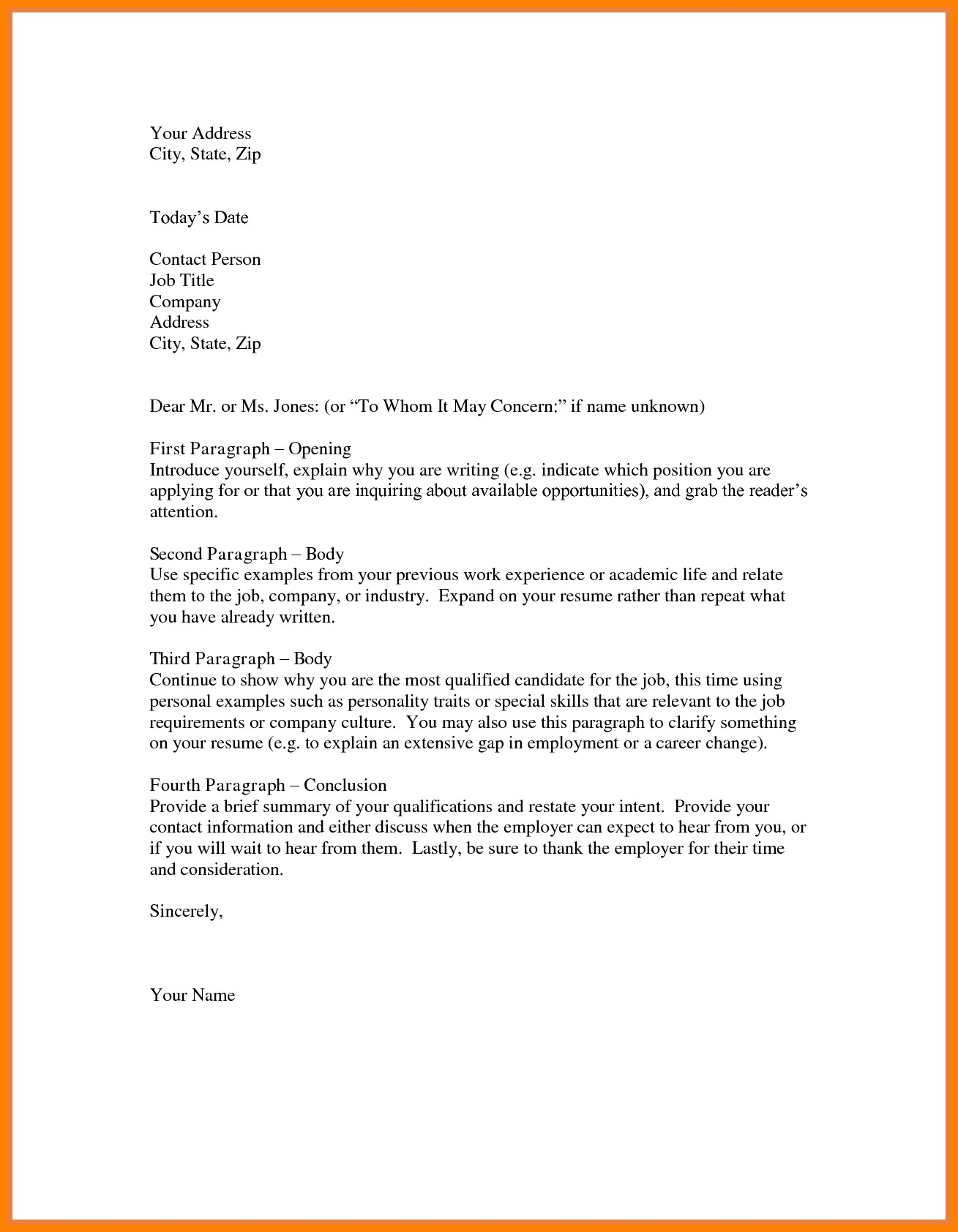Letter Of Intent for Job Template - Letter Intent Job Template New Letter Intent for Employment
