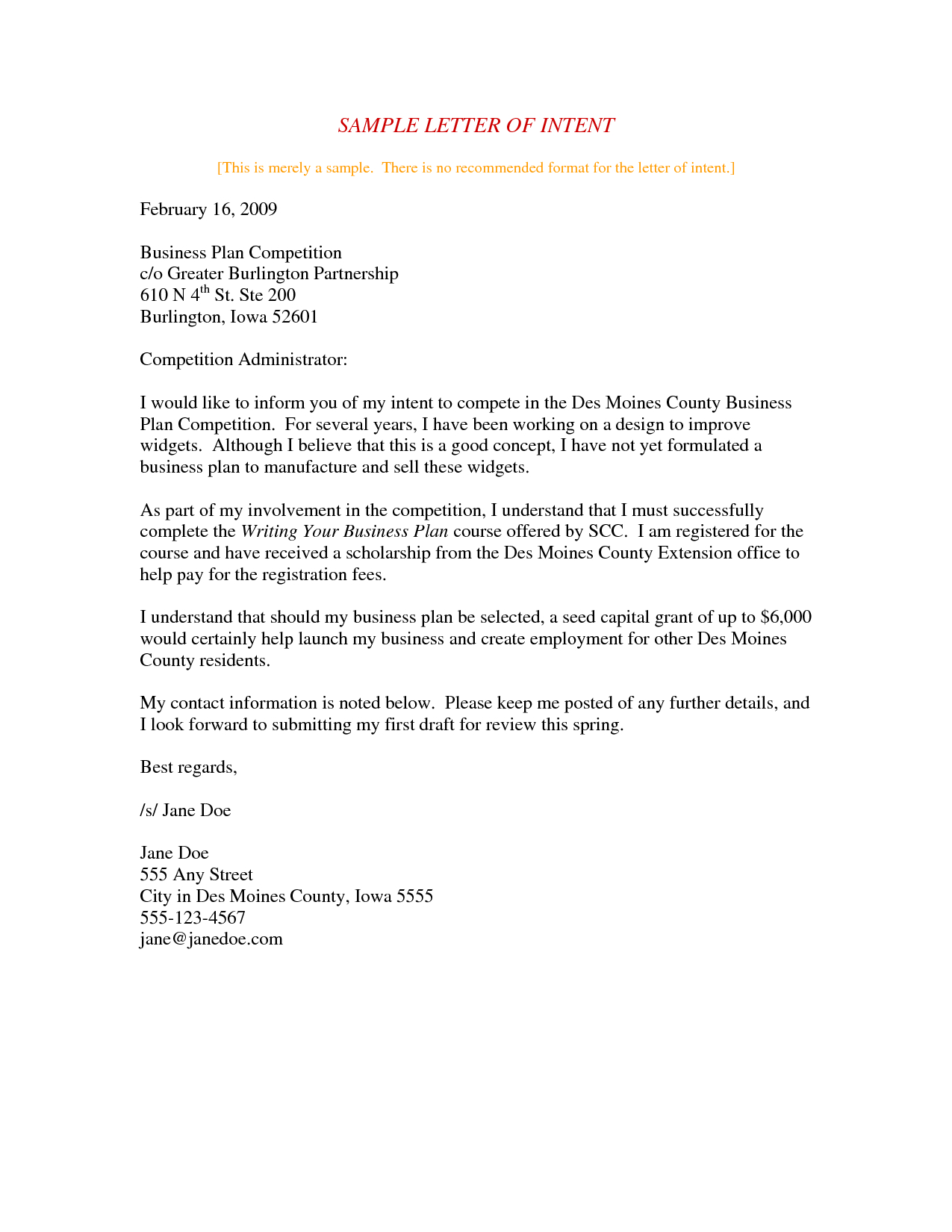 Letter Of Intent Template Business Partnership - Letter Intent Partnership Template S High Resolution Sample