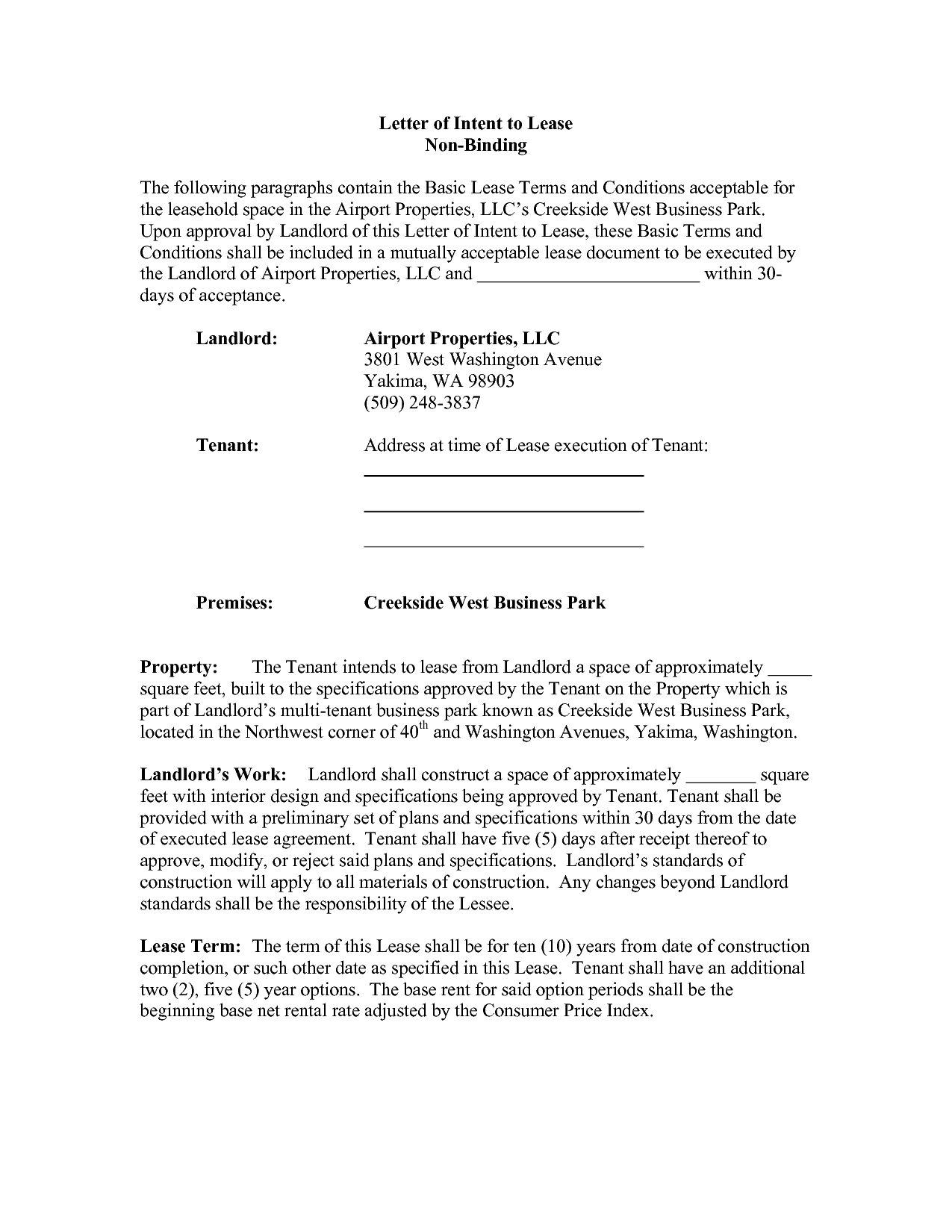 Letter Of Intent to Lease Commercial Space Template - Letter Intent Real  Estate Lease Hd Best