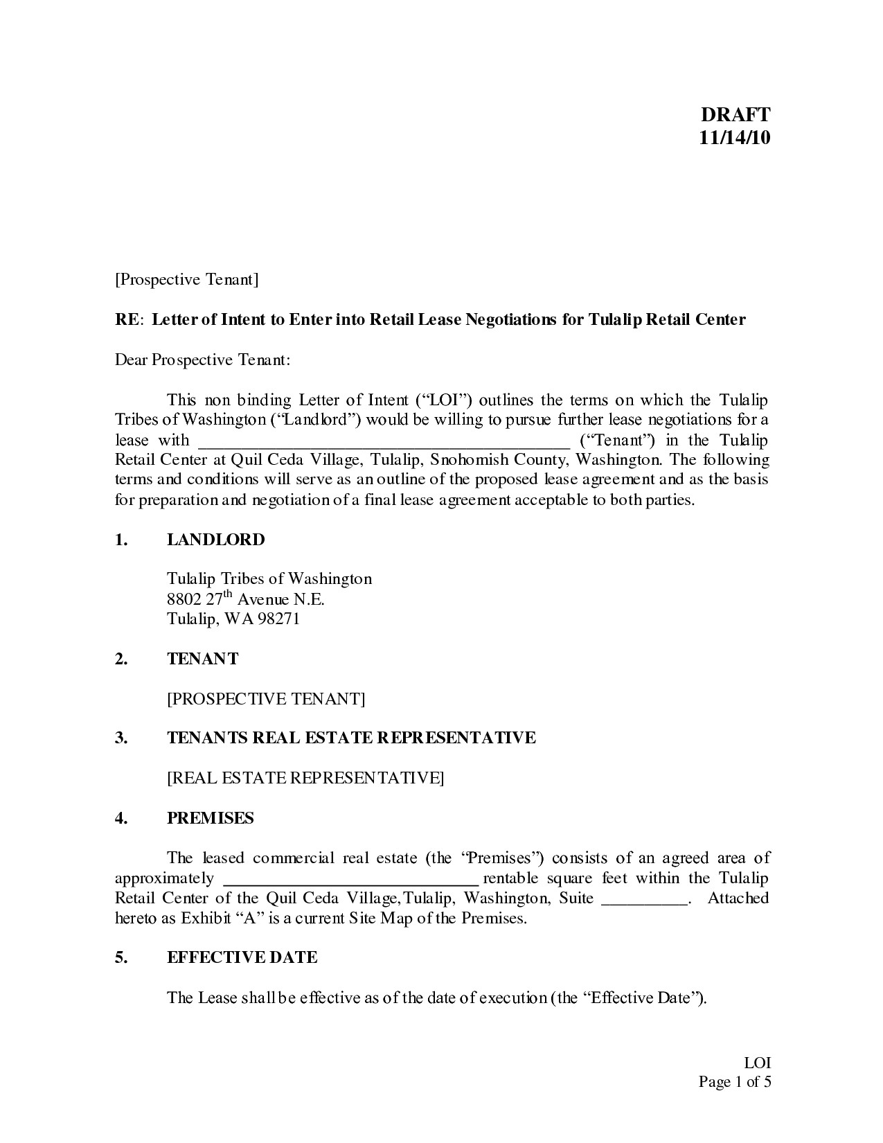 Business Letter Template Word | Real Estate Letter Of Intent Template Free Examples Letter