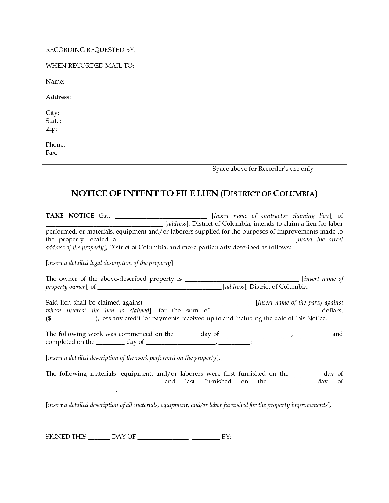 Intent to Lien Letter Template - Letter Intent to File Lien Inspirations Template In Texas