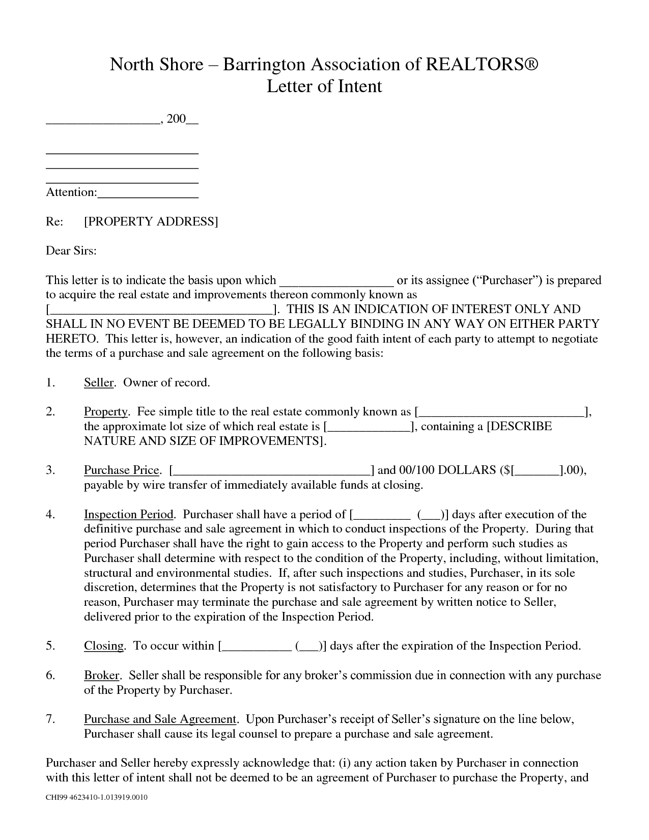 Commercial Real Estate Letter Of Intent Template - Letter Intent to Purchase Real Estate Florida Example Mercial