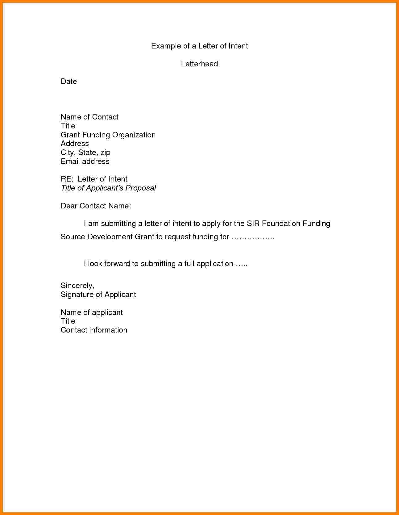 Free Letter Of Intent for A Job Template - Letter Intention Job Valid Letter Intent Template Job Refrence