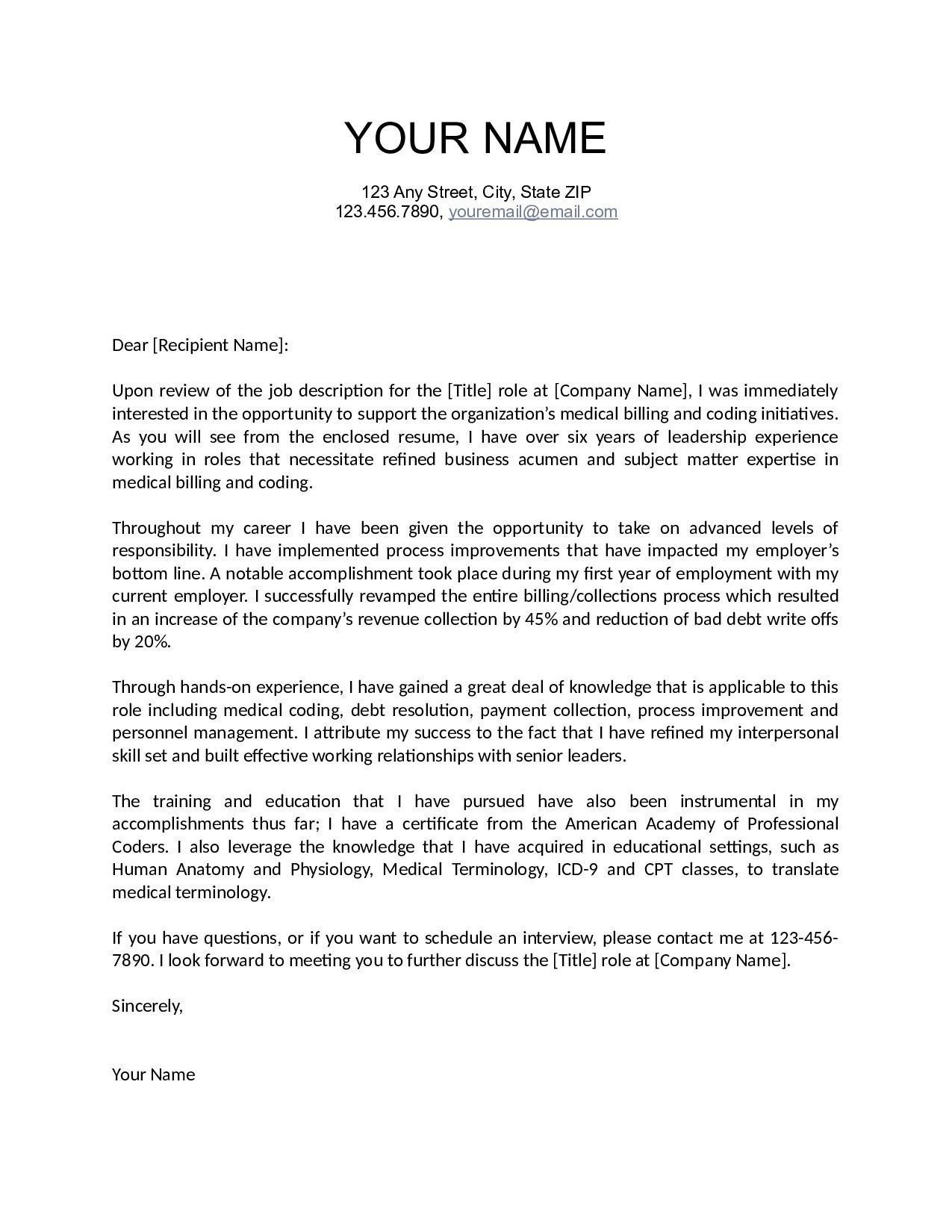 Job Letter Template - Letter Interest for Job New Cover Letter Examples for Internship