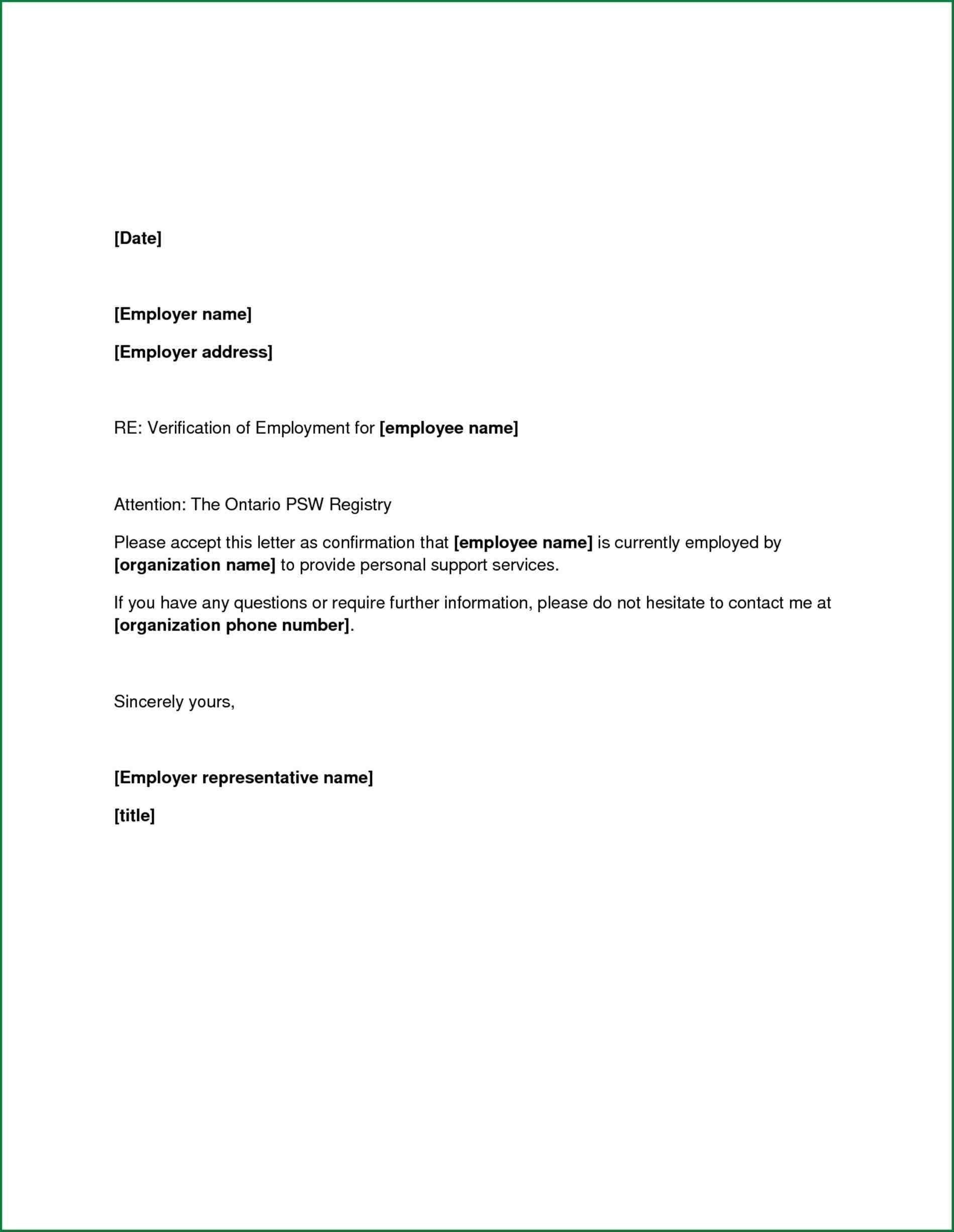 Confirmation Of Employment Letter Template - Letter Job Confirmation Best Job Letter From Employer New Sample