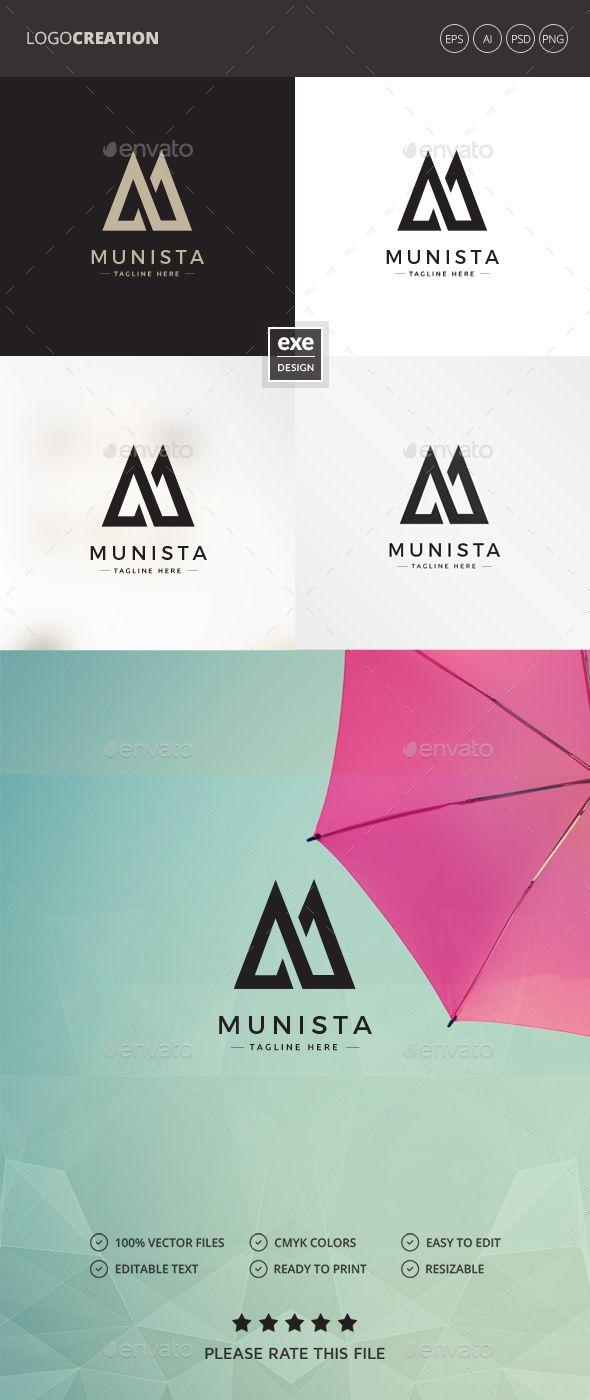 Letter Logo Template - Letter M Logo Logos Templates Pinterest