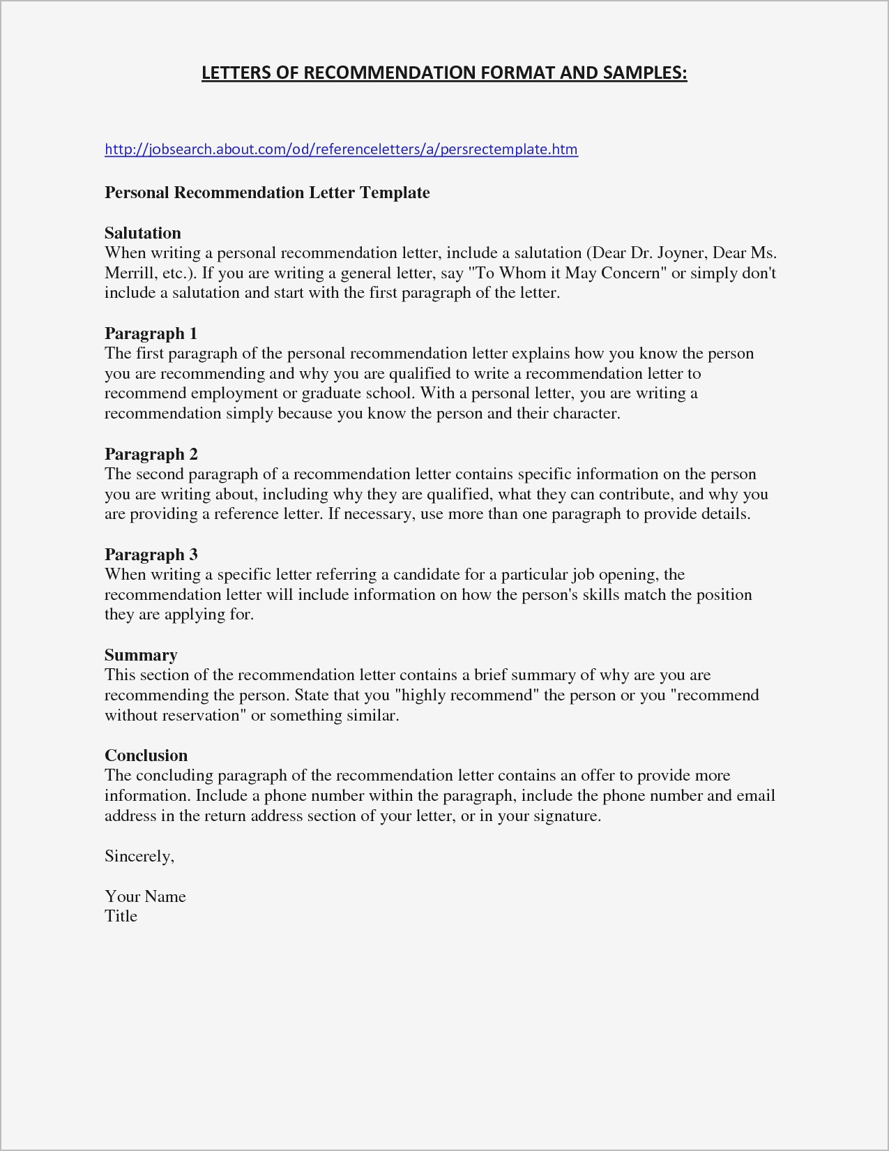 Letter Of Recommendation Template for Student - Letter Re Mendation Template for Student Samples