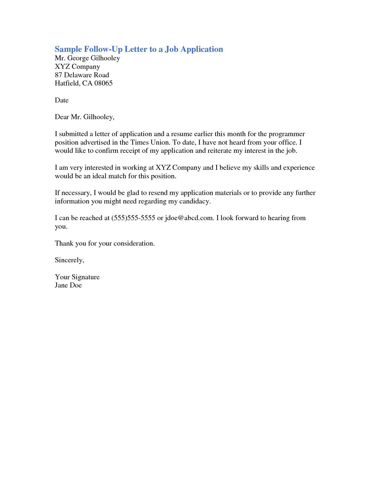 template letter for job application