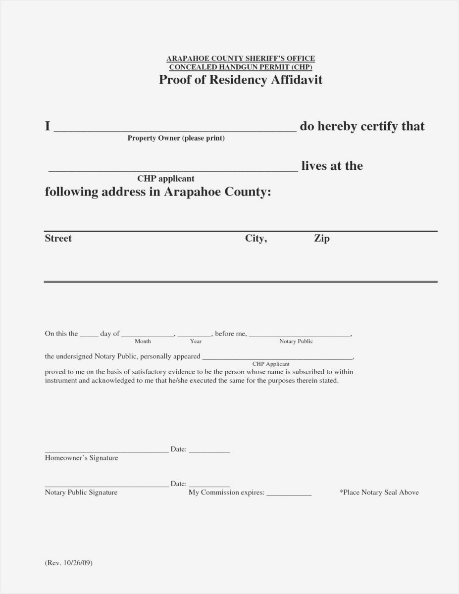 Printable Notarized Letter Of Residency Template - Letter Residency Ideas Printable Notarized Letter Residency