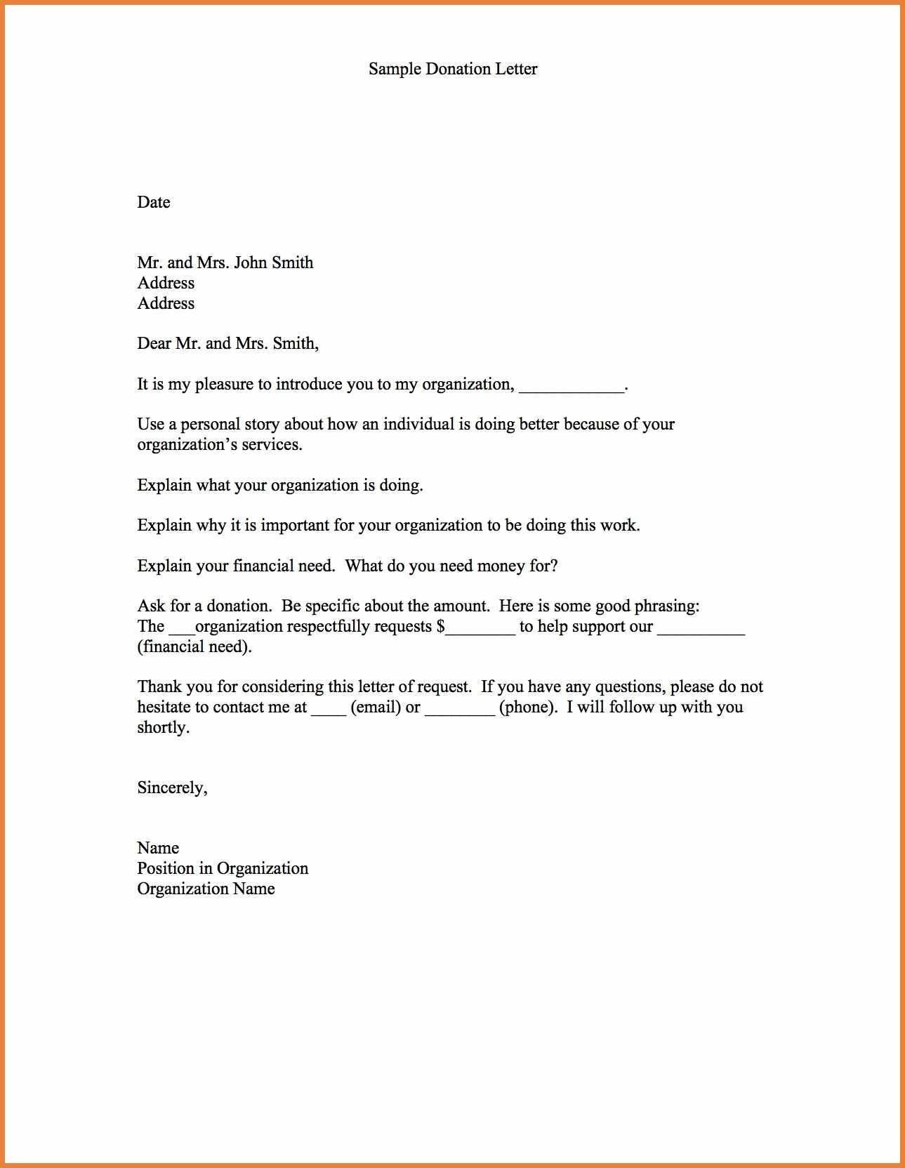 Fundraiser Proposal Letter Template - Letter T Fundraising Template Sample Donation sop Proposal