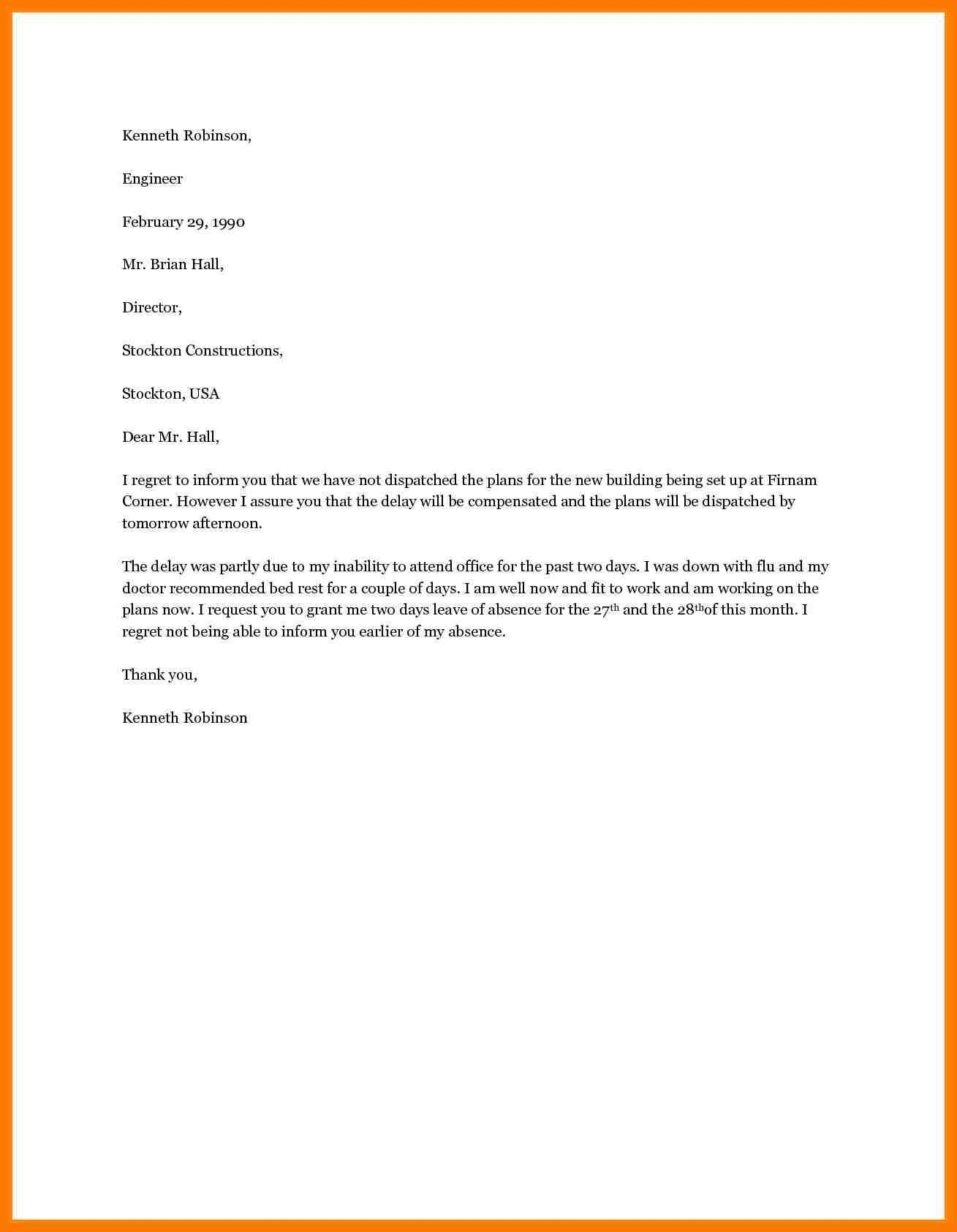 Vacation Request Letter Template - Letter Template for Leave Request New Vacation Request Letter