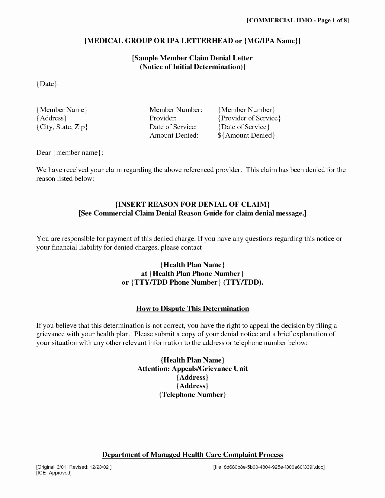 claim denial letter template Collection-Letter Template for Ppi Claim Copy Gallery Title Insurance Claim Letter Sample Fresh Insurance Claim 6-h