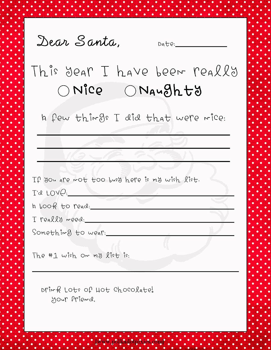 Christmas Letter From Santa Template - Letter to Santa Template New Christmas Decor