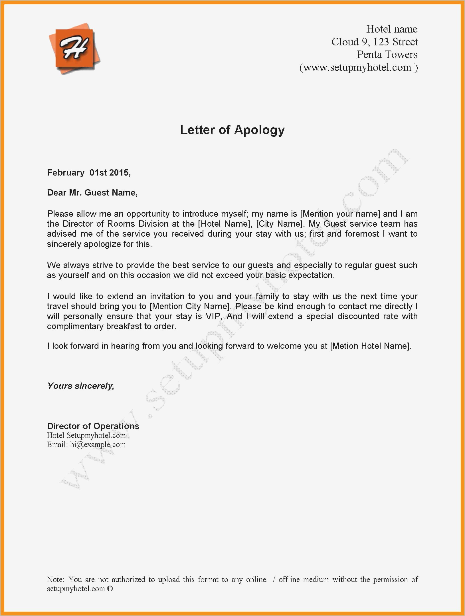 Letter Of Understanding Template - Letter Understanding Sample Beautiful Separation Agreement Sample