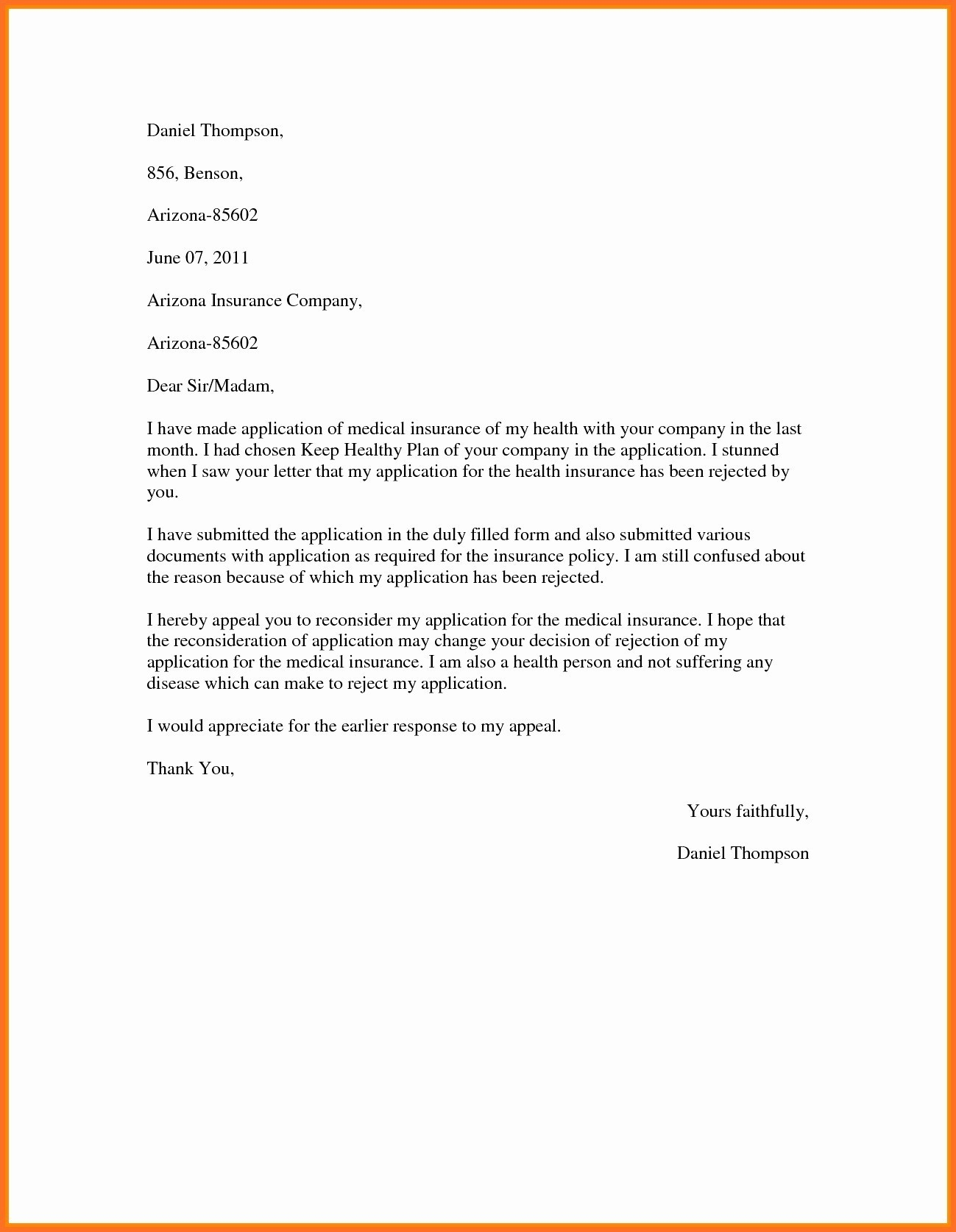Medical Claim Appeal Letter Template - Letter Writing format for Medical Reimbursement Inspirationa Sample