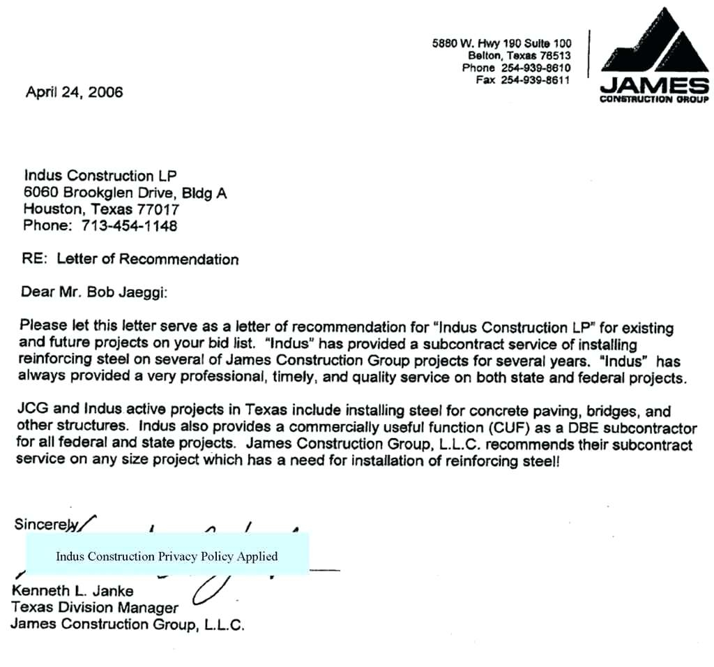 construction letter of intent template collection letter template