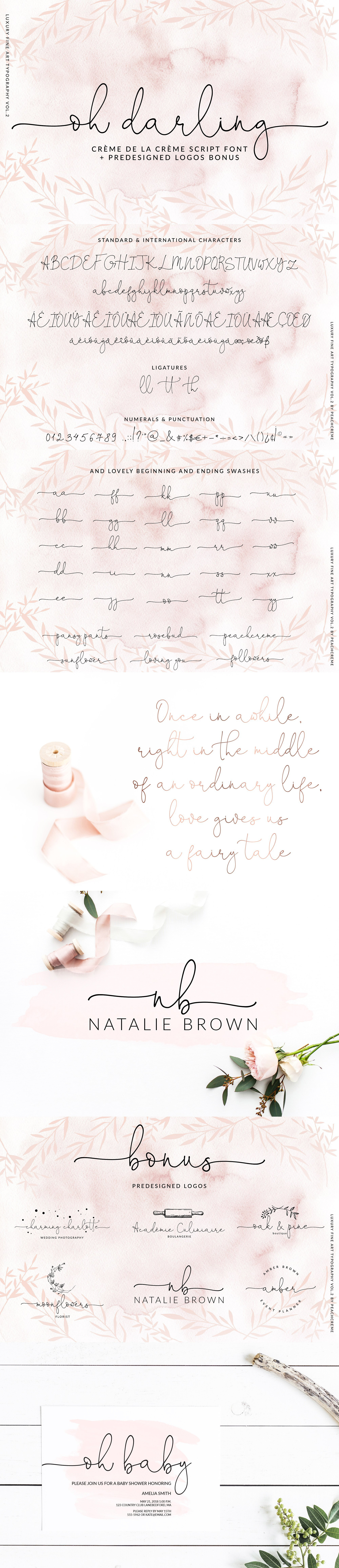Letter Of Rogatory Template - Letters Rogatory Inspirational Oh Darling Ethereal Script Font