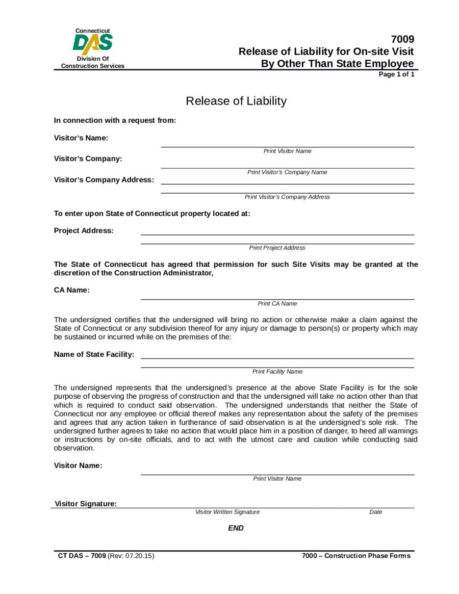 Letter Of Release Of Liability Template Examples Letter Template