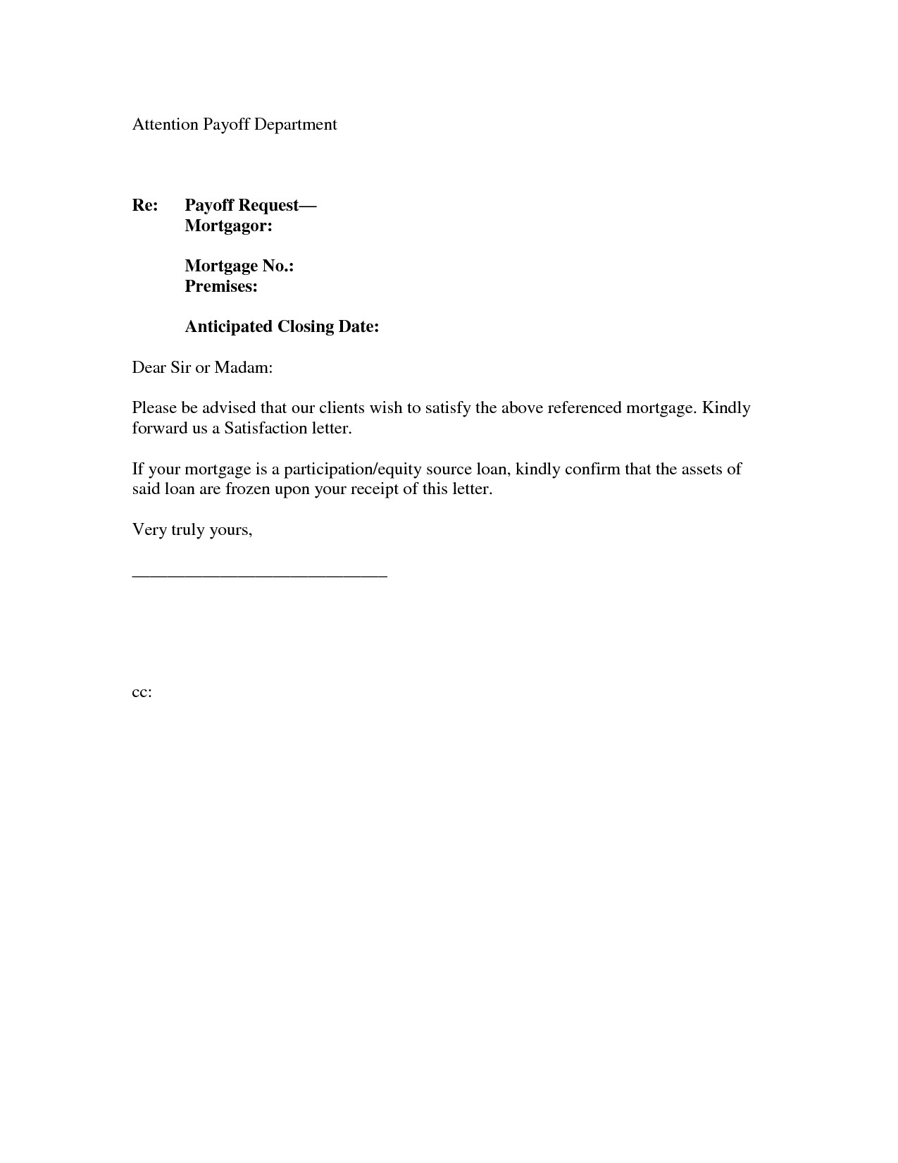 mortgage loan payoff letter template loan gift letter template new request letter for bank guarantee