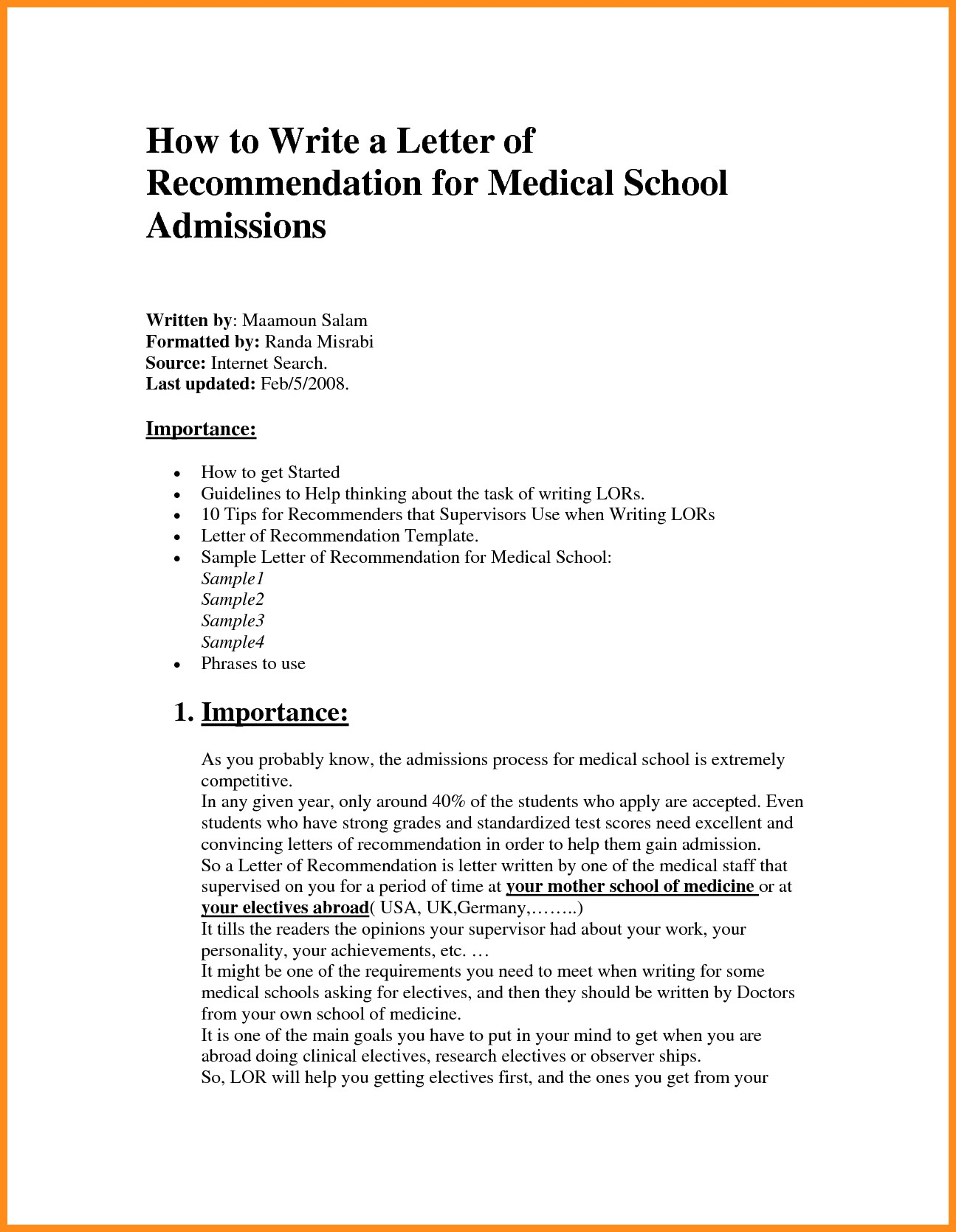 Template for Letter Of Recommendation for Medical School - Lovely Medical School Letter Re Mendation Template