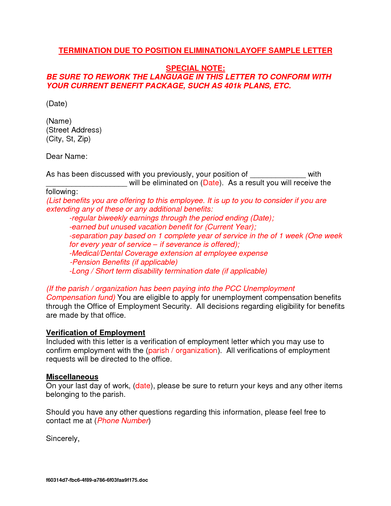 Demotion Letter Template - Lovely Termination Employment Letter Sample Your Template