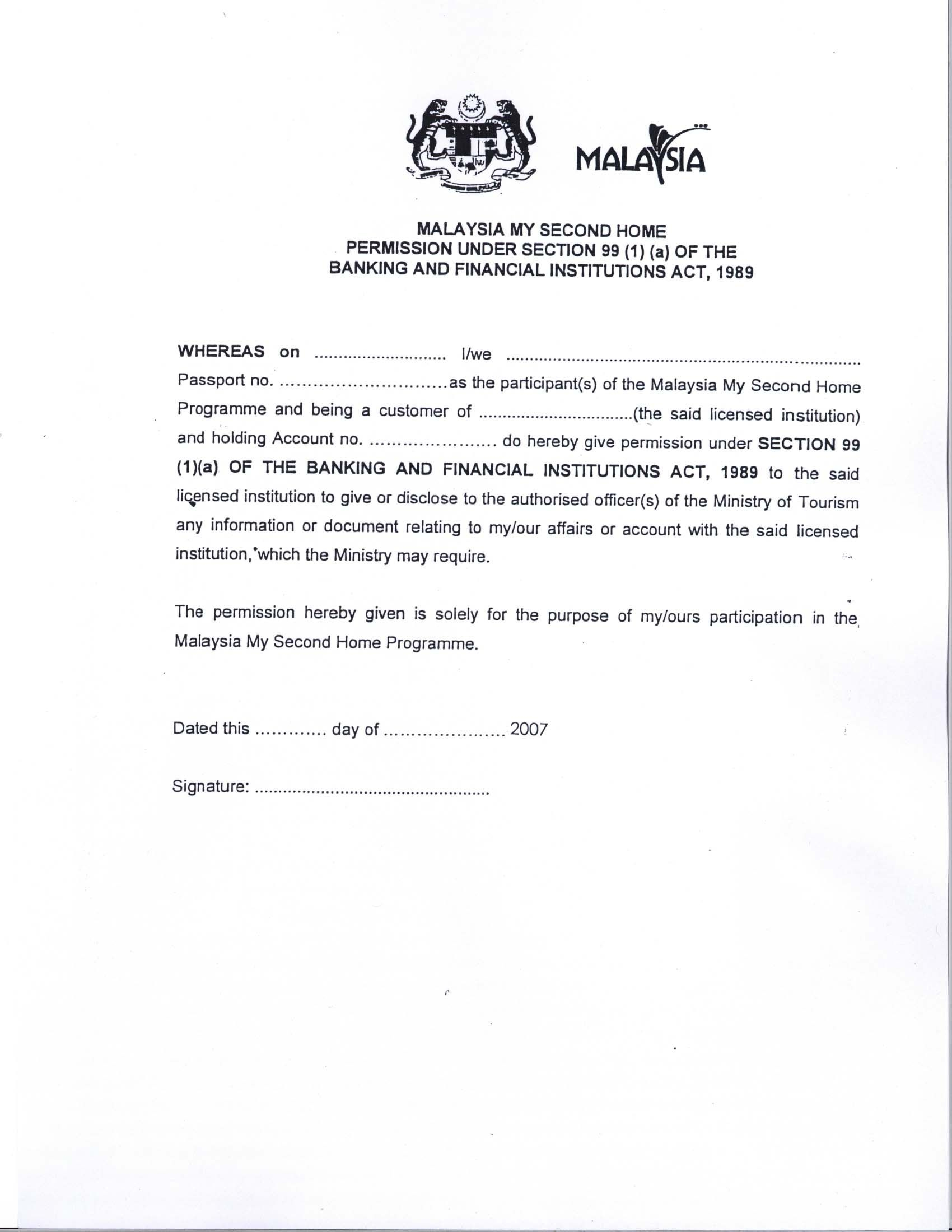 Visa Letter Template - Malaysia Visa Application Letter Writing A Re Papervisa Request