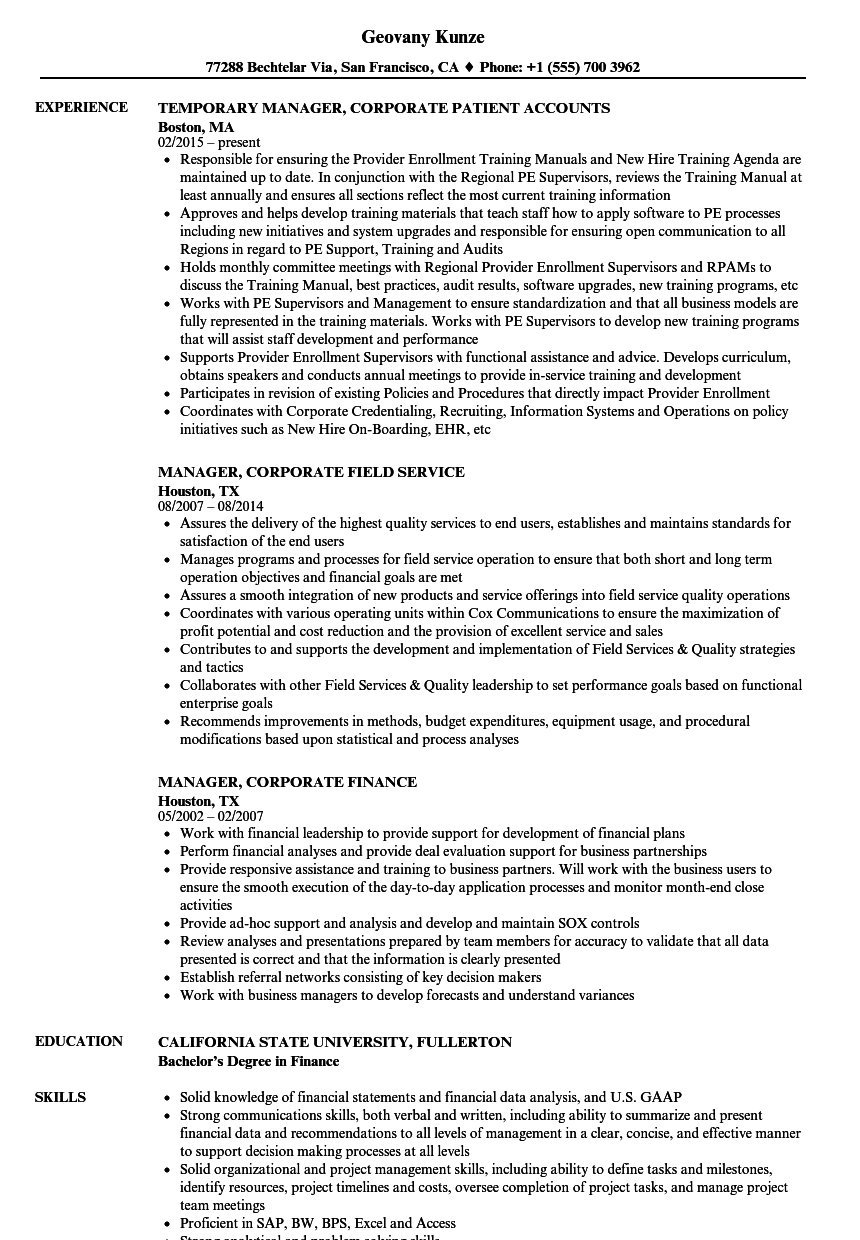 Aml Comfort Letter Template - Manager Corporate Resume Samples