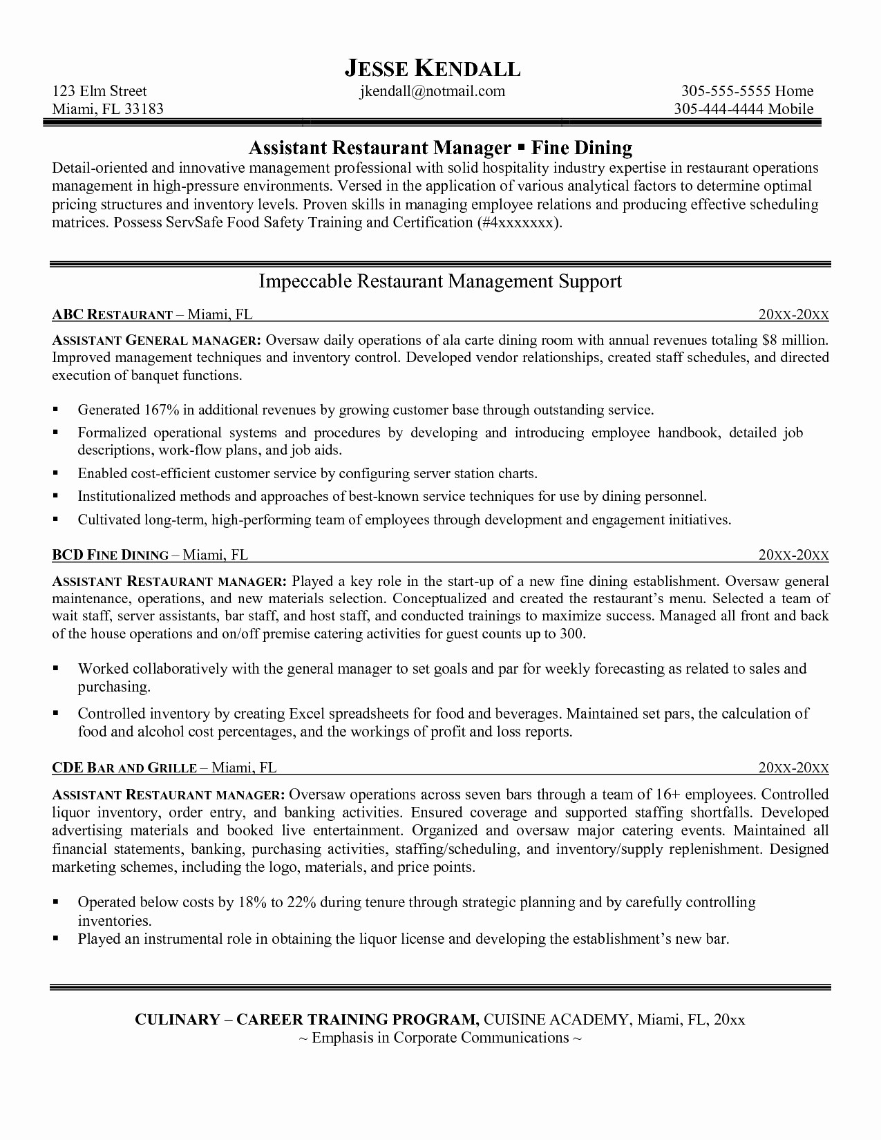 Operations Manager Cover Letter Template Samples