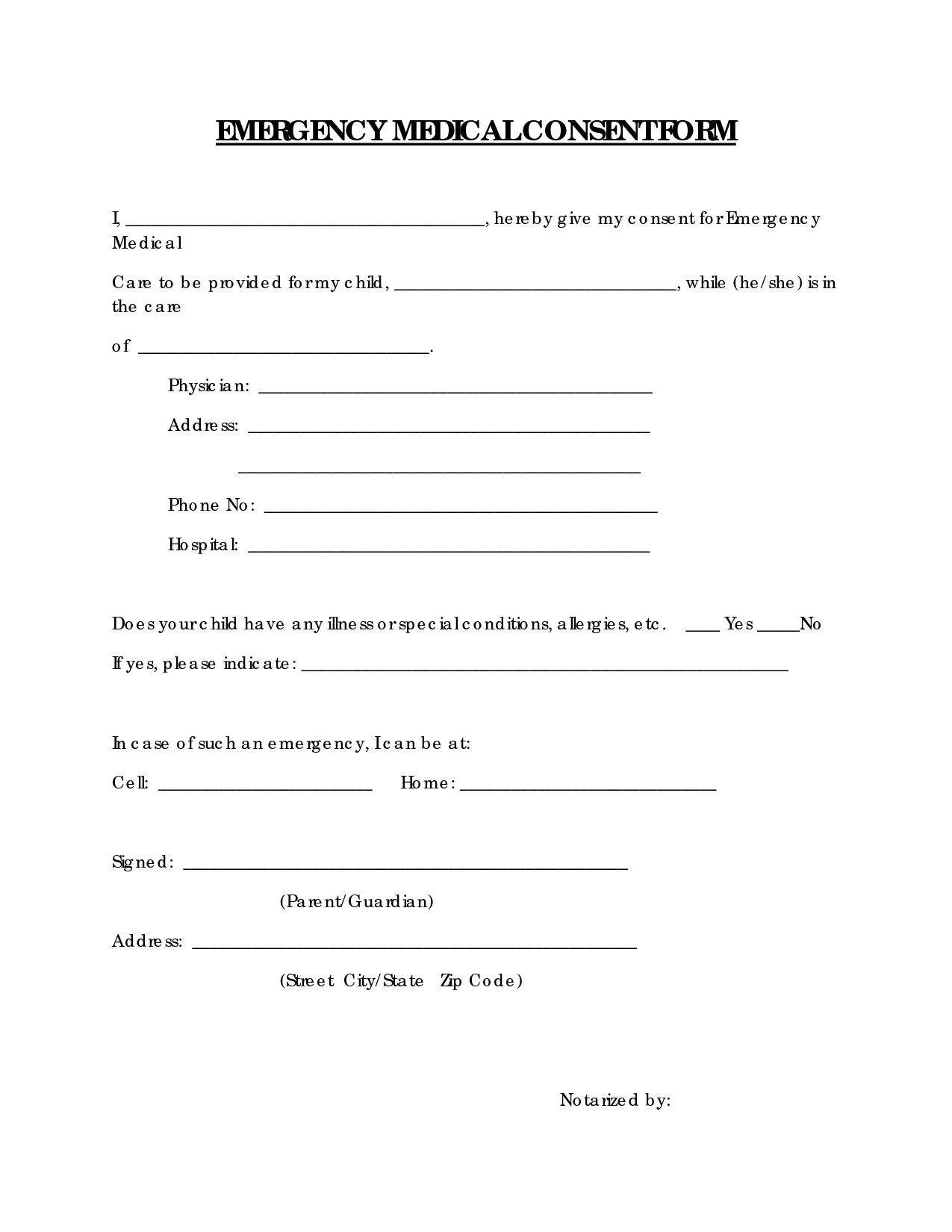 Medical Consent Letter for Grandparents Template - Medical Consent form solarfm