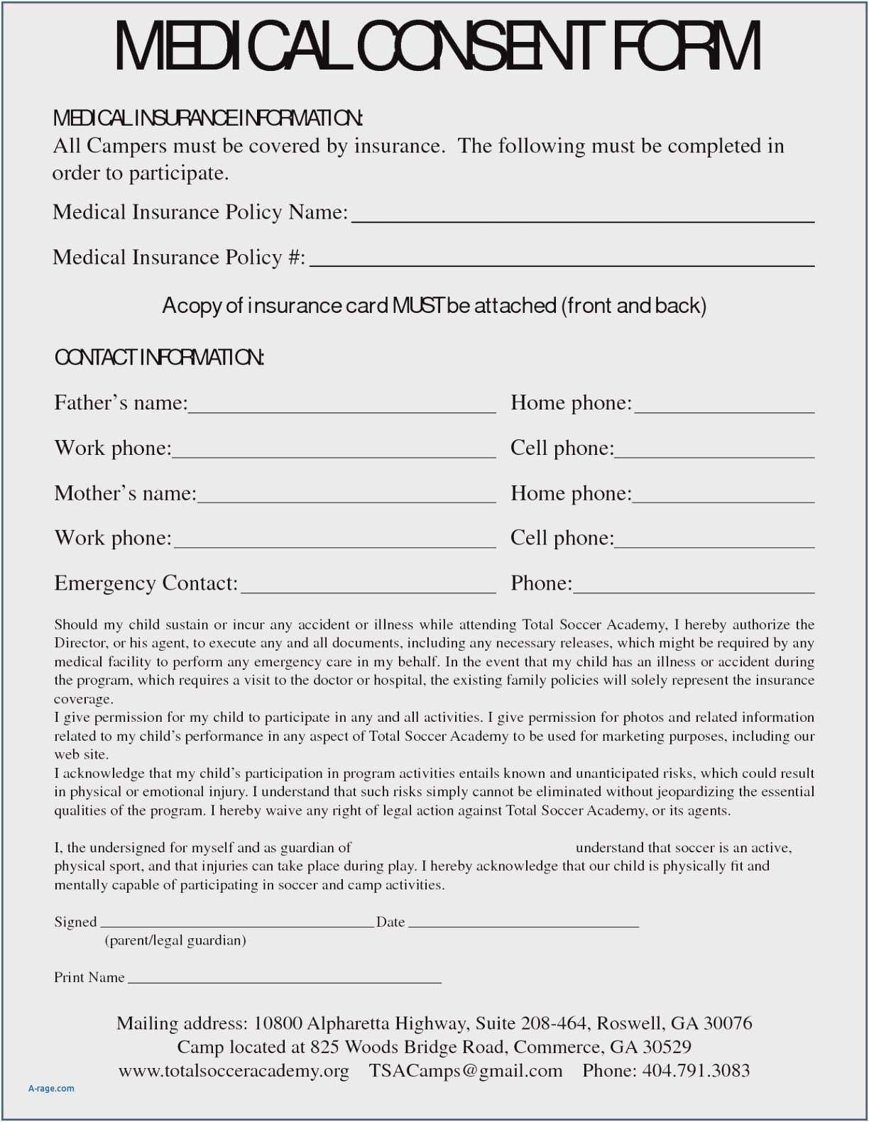 Medical Consent Letter for Grandparents Template - Medical Release form for Grandparents Unique Medical Treatment