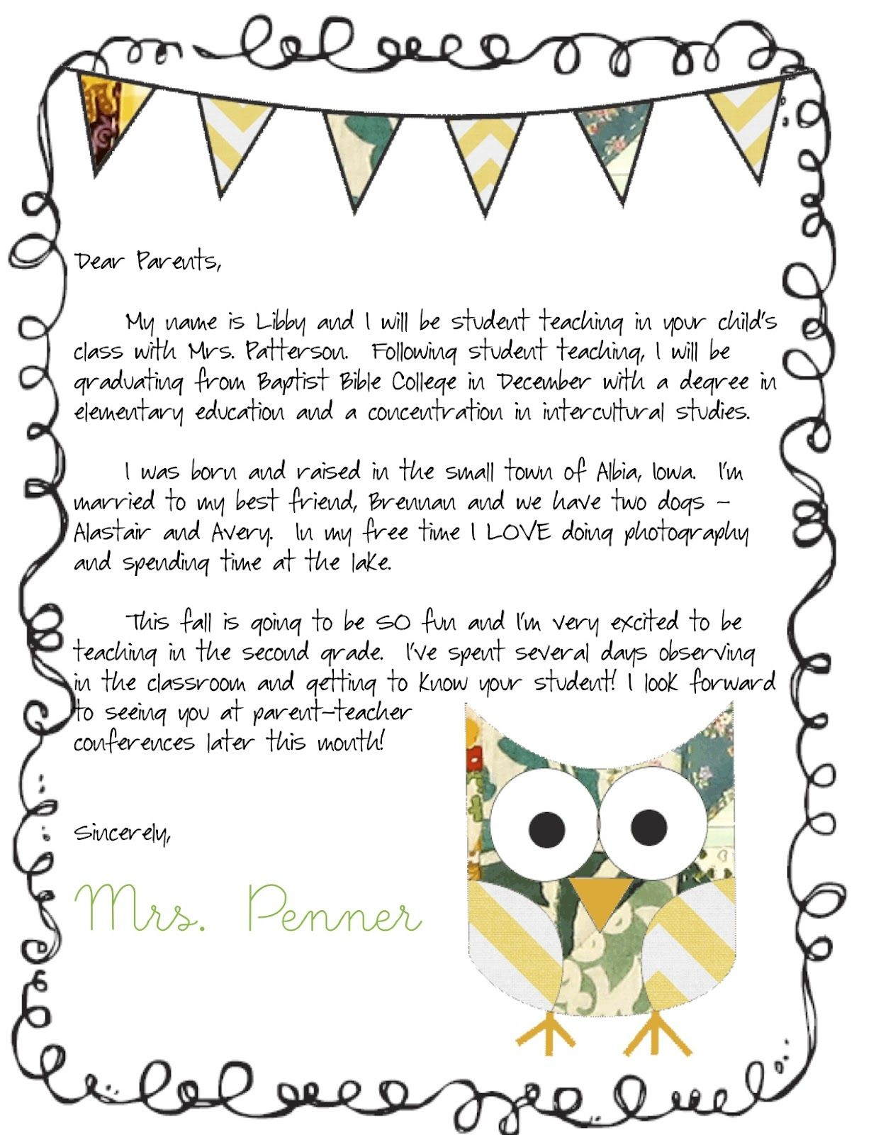preschool welcome letter to parents from teacher template meet the teacher letter classroom ideas pinterest