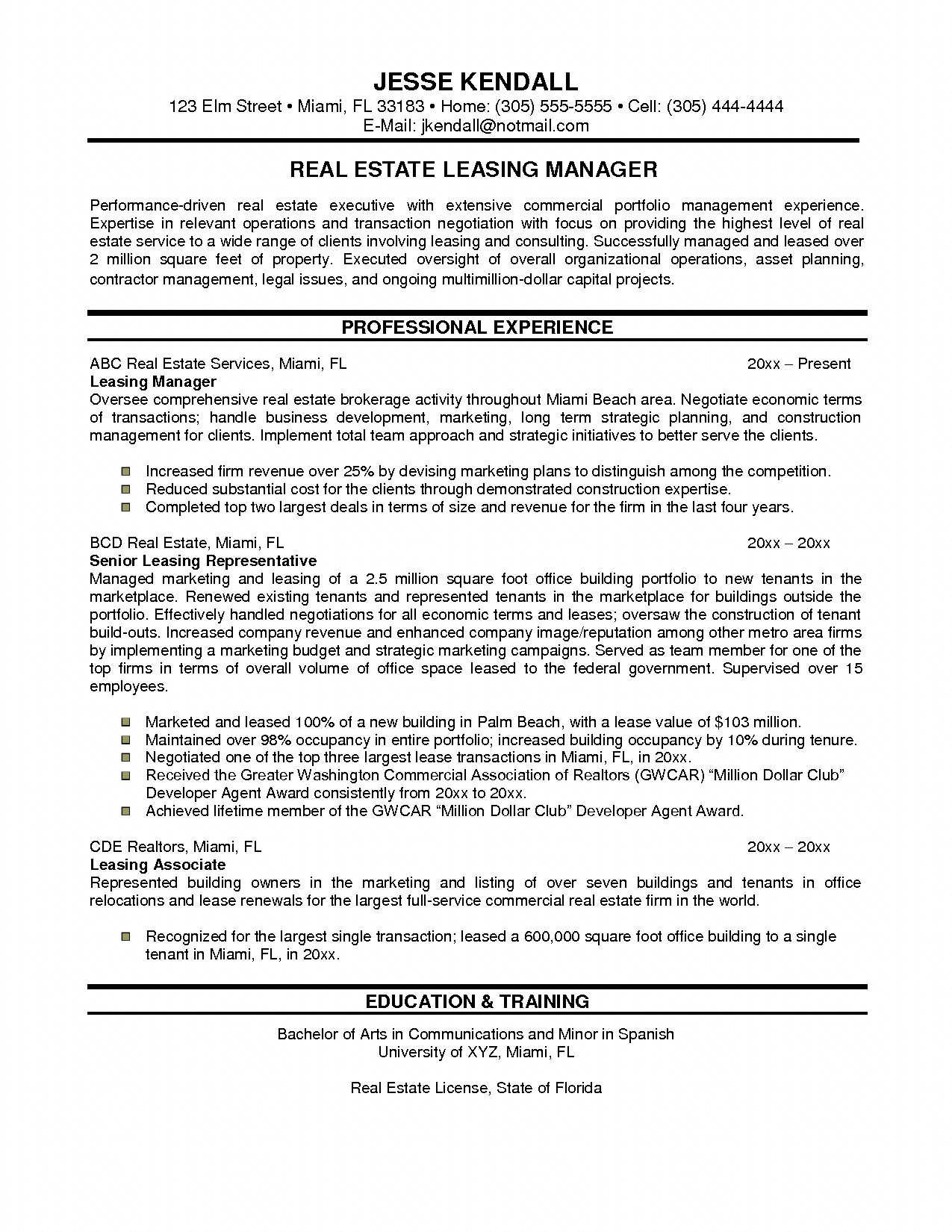 Real Estate Commission Letter Template - Mercial Property Manager Resume Samples Building Manager Resume
