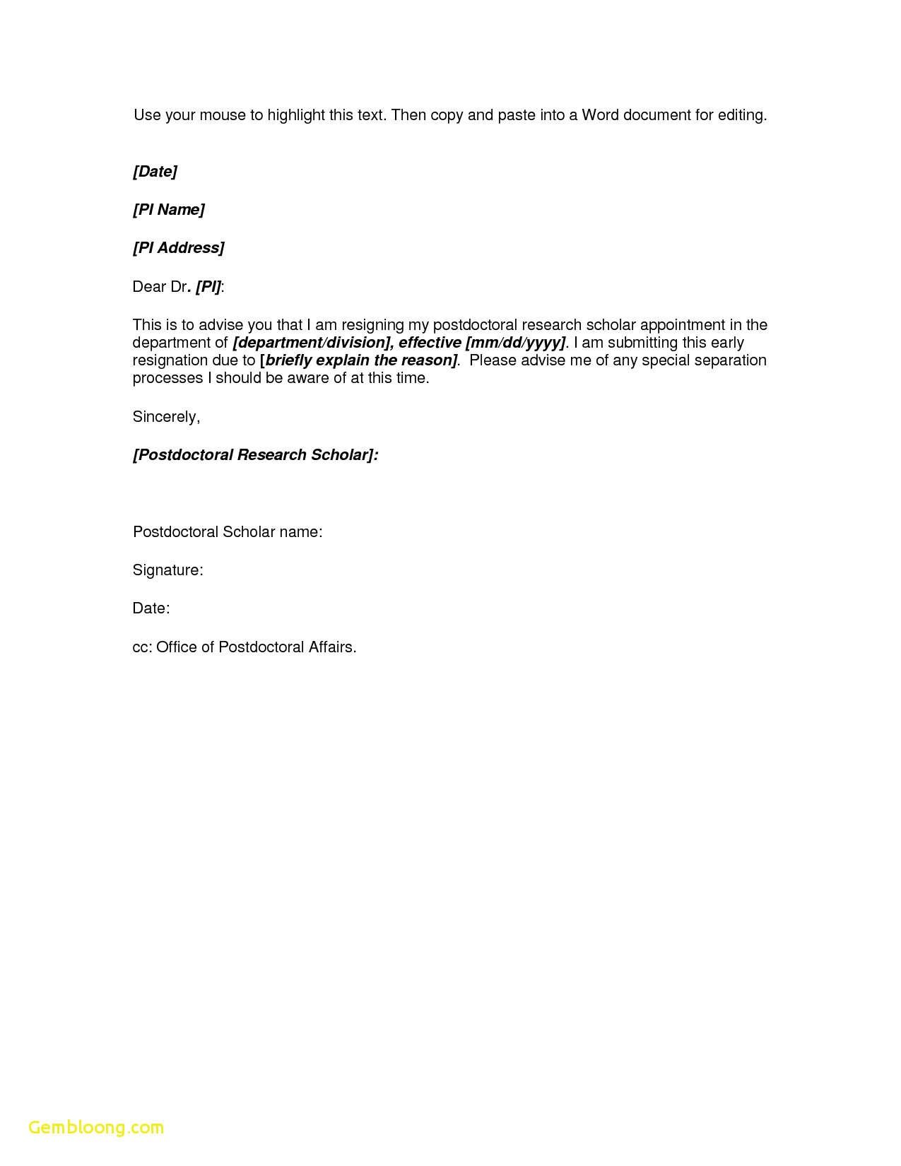 Microsoft Word Resignation Letter Template - Microsoft Templates Resume Download Microsoft Word Resignation