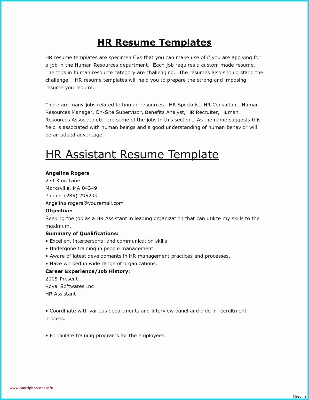 Letter Of Employment Template Word - Microsoft Word Templates Resume Elegant Awesome Examples Resumes