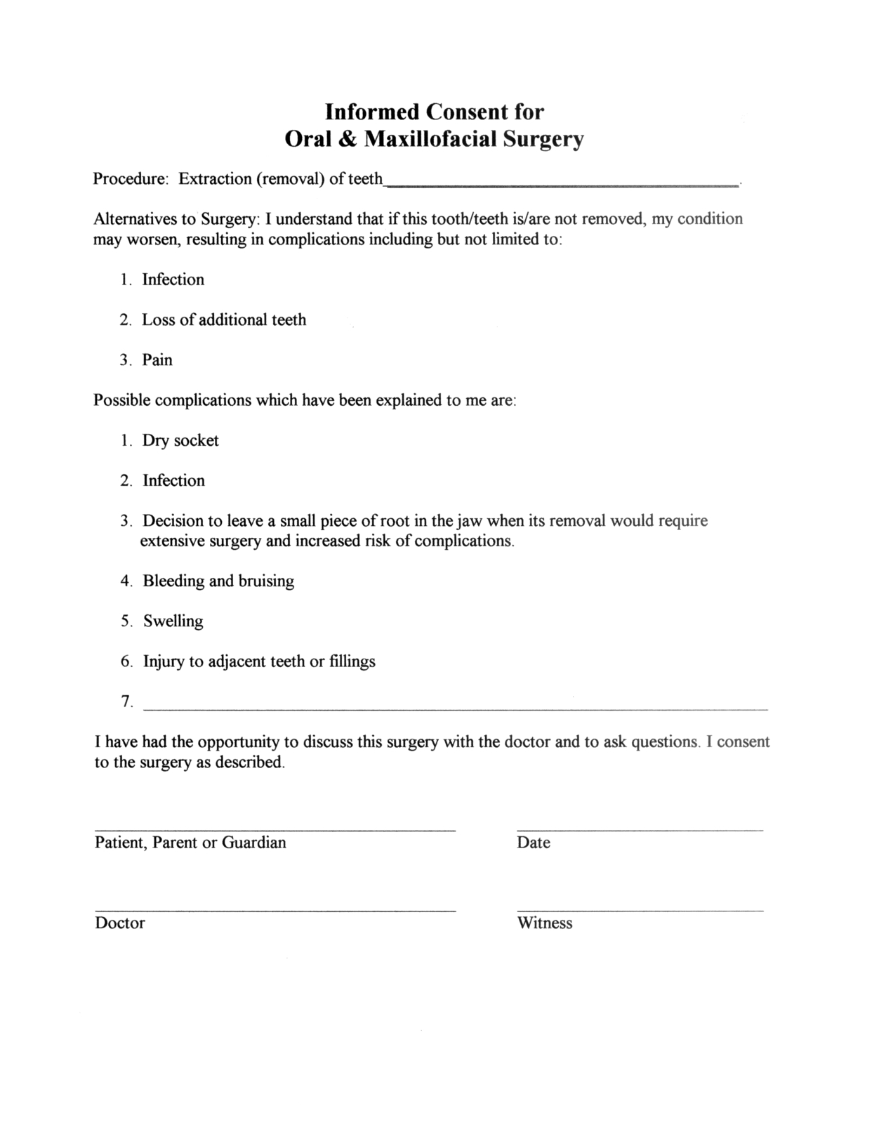 Medical Consent Letter Template - Minor Surgery Consent form Template Consent form