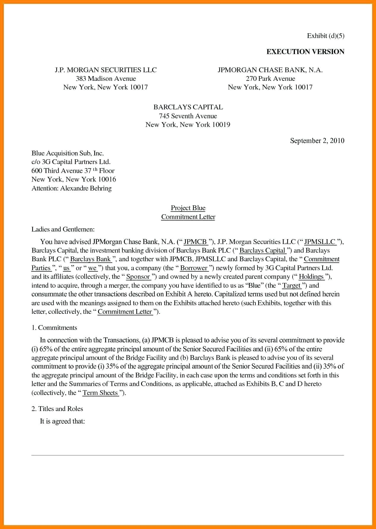Mortgage Commitment Letter Template - Mitment Letter Sample Fresh 25 Mortgage Mitment Letter