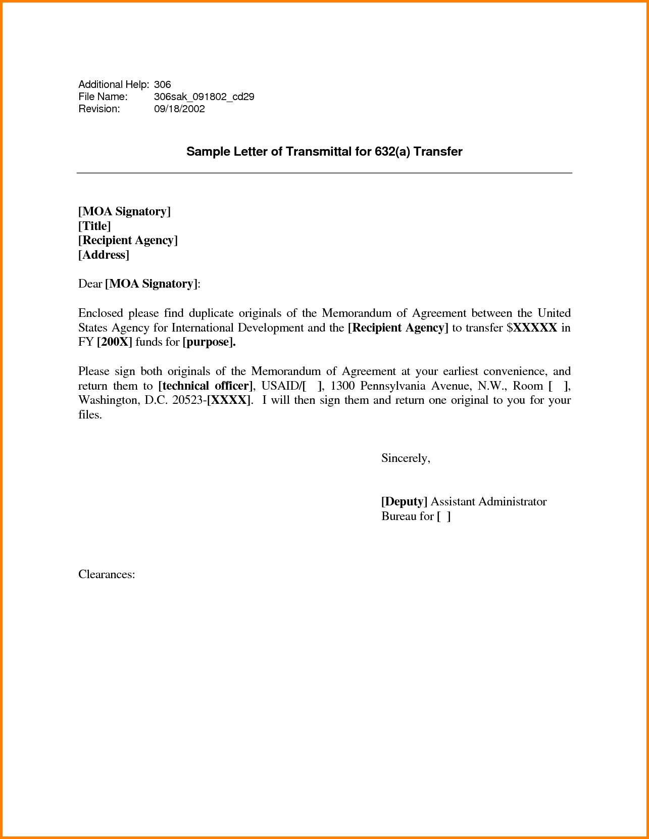 Letter Of Transmittal Example | Letter Of Transmittal Template Doc Examples Letter Template Collection