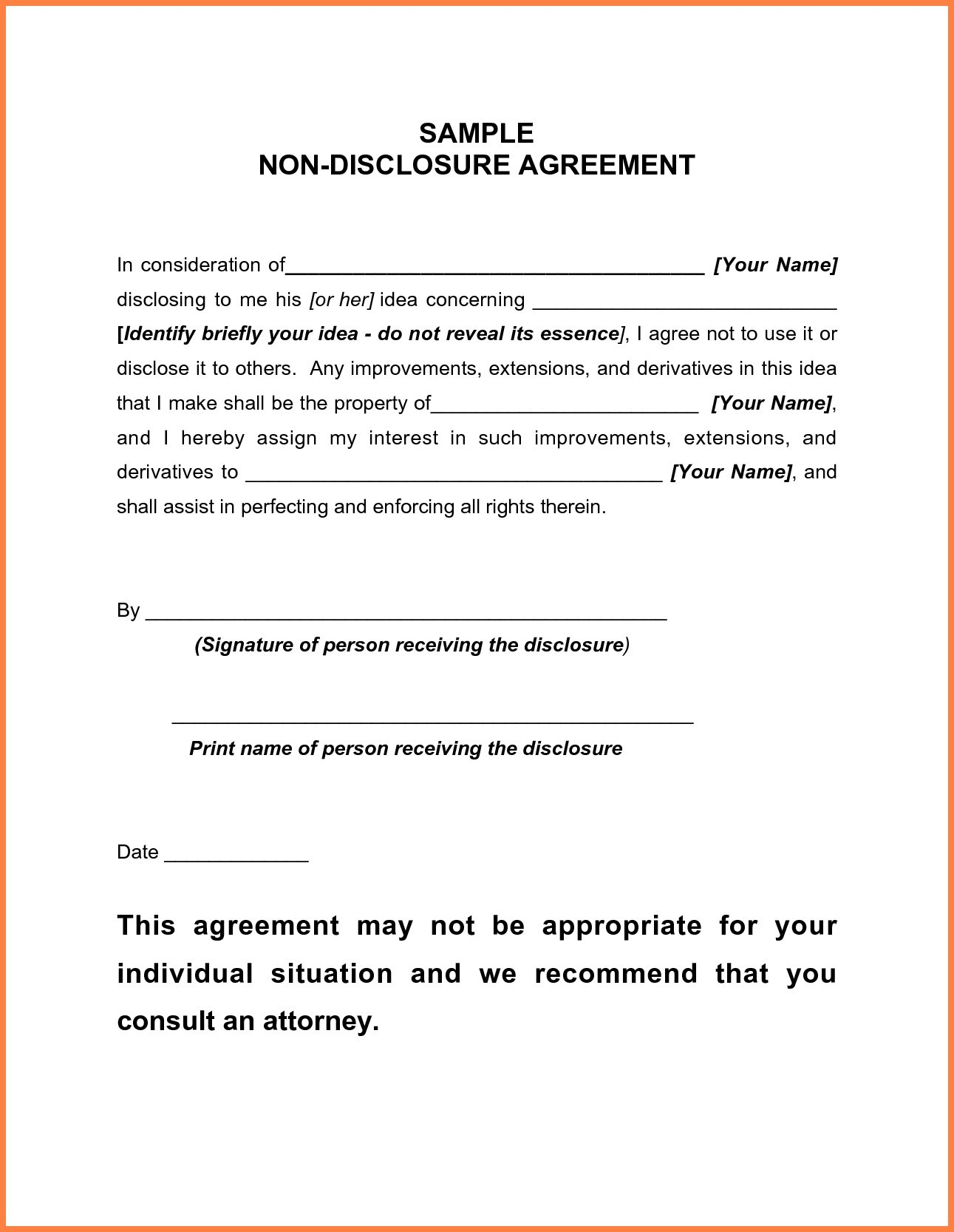 Letter Of Confidentiality and Nondisclosure Template - New Free Confidentiality Agreement Template Download