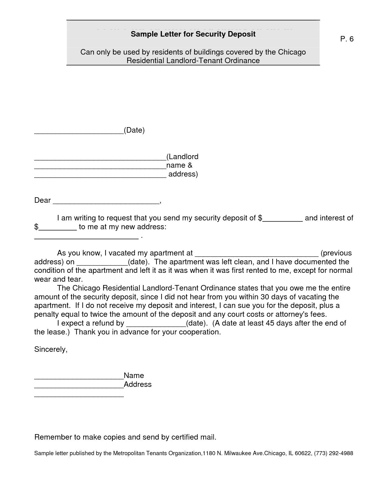Security Deposit Refund Letter Template - New Refund Letter Best Letter format for Requesting A Refund Best